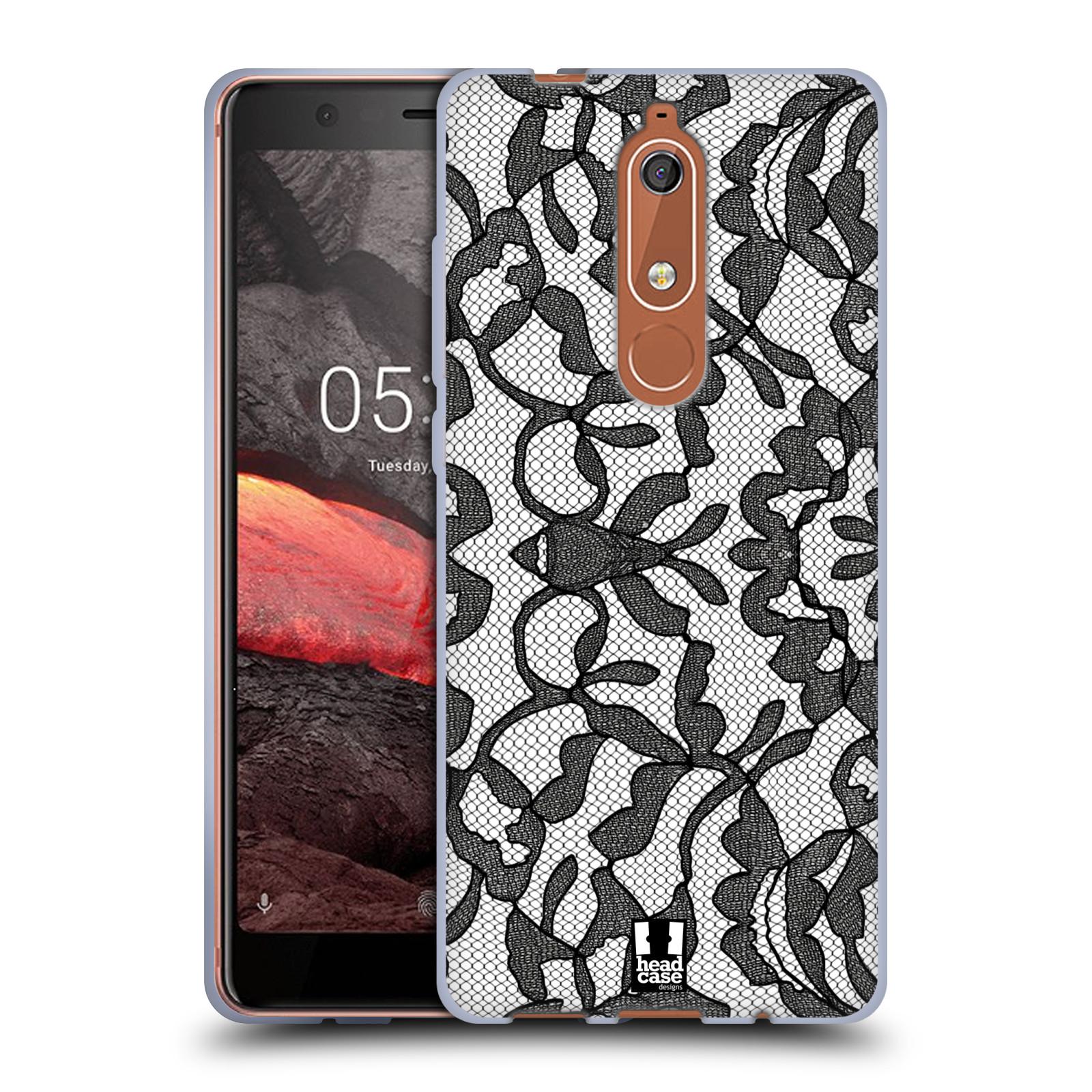 Silikonové pouzdro na mobil Nokia 5.1 - Head Case - LEAFY KRAJKA