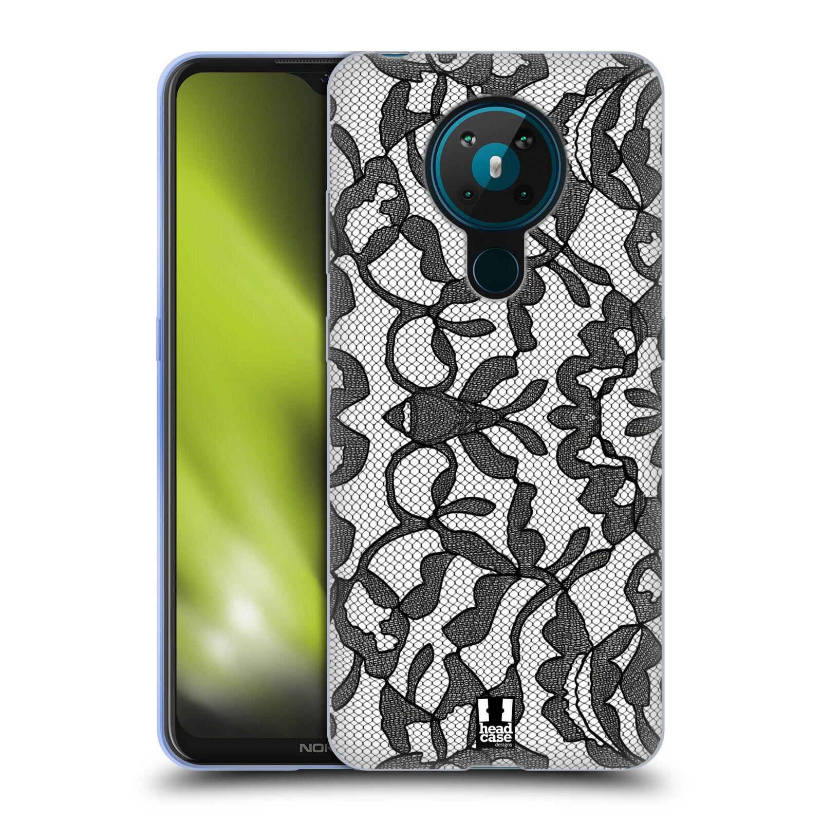 Silikonové pouzdro na mobil Nokia 5.3 - Head Case - LEAFY KRAJKA