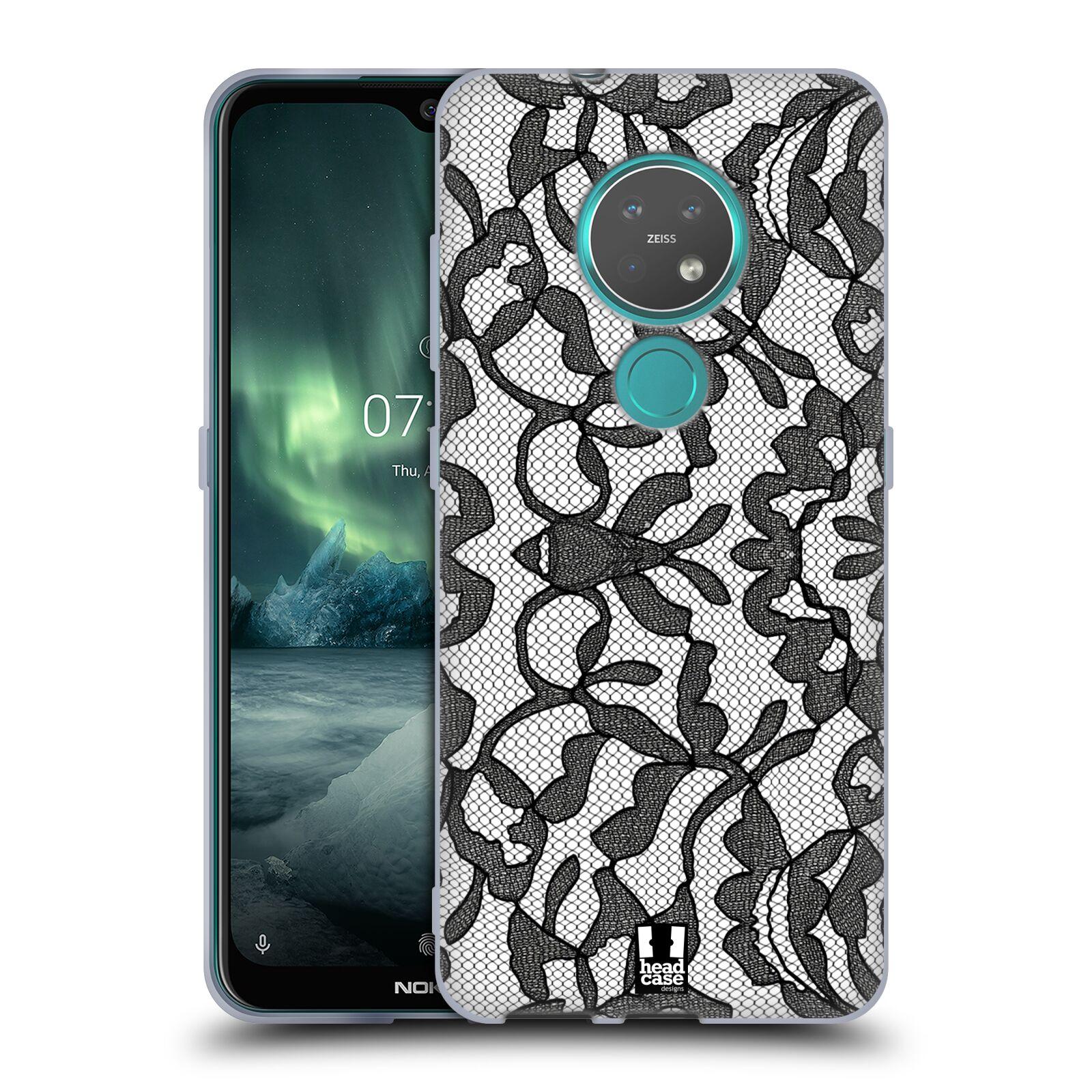 Silikonové pouzdro na mobil Nokia 6.2 - Head Case - LEAFY KRAJKA
