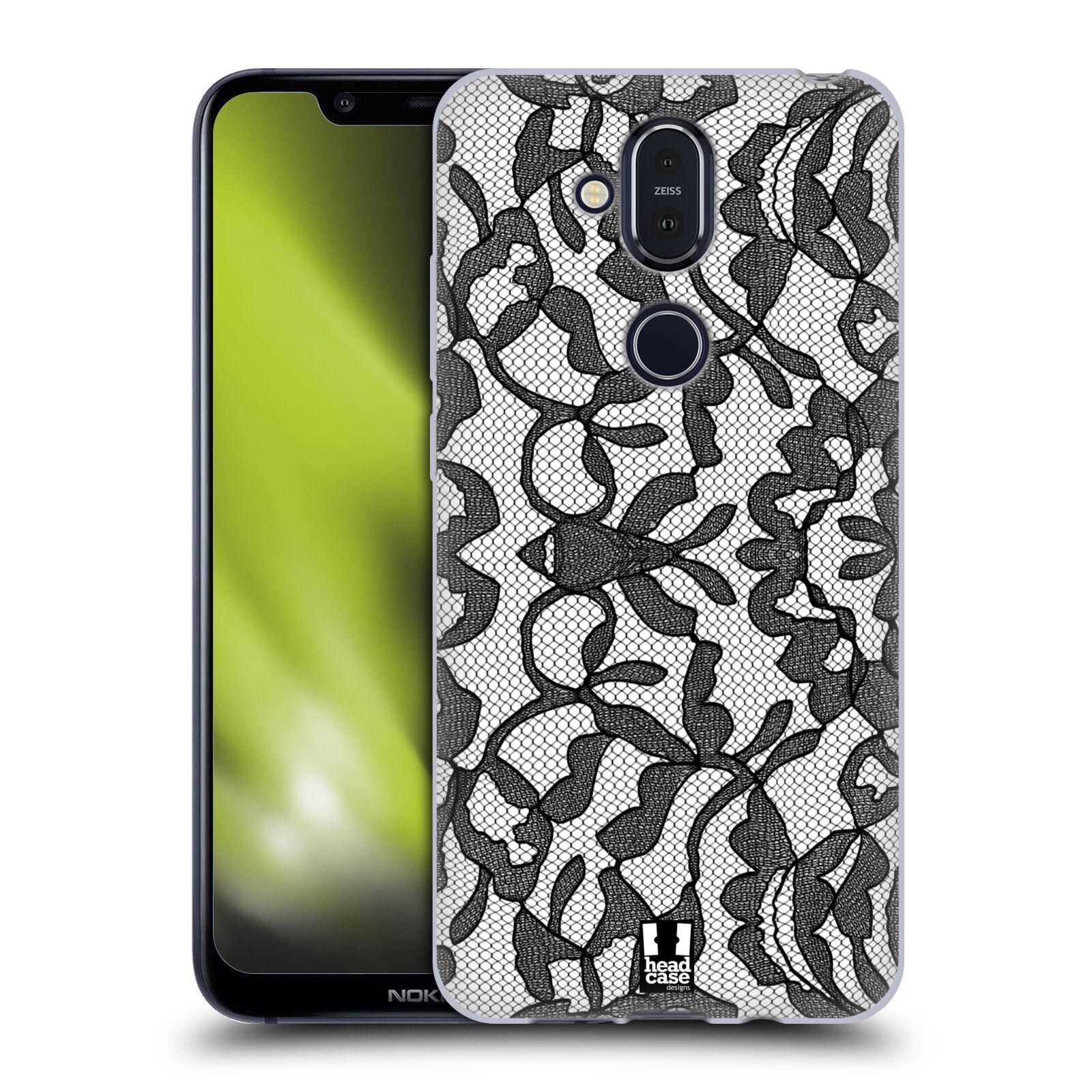 Silikonové pouzdro na mobil Nokia 8.1 - Head Case - LEAFY KRAJKA