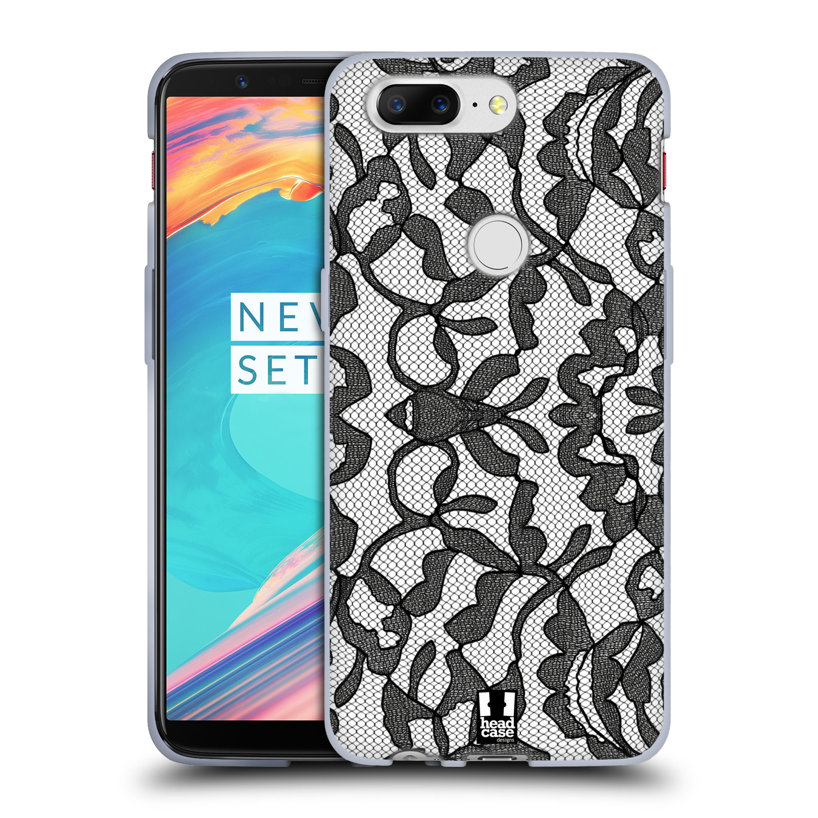Silikonové pouzdro na mobil OnePlus 5T - Head Case - LEAFY KRAJKA