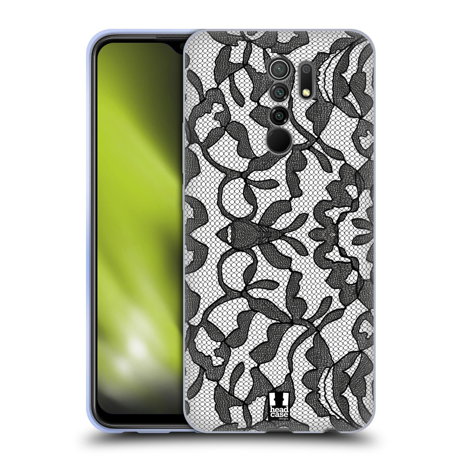 Silikonové pouzdro na mobil Xiaomi Redmi 9 - Head Case - LEAFY KRAJKA