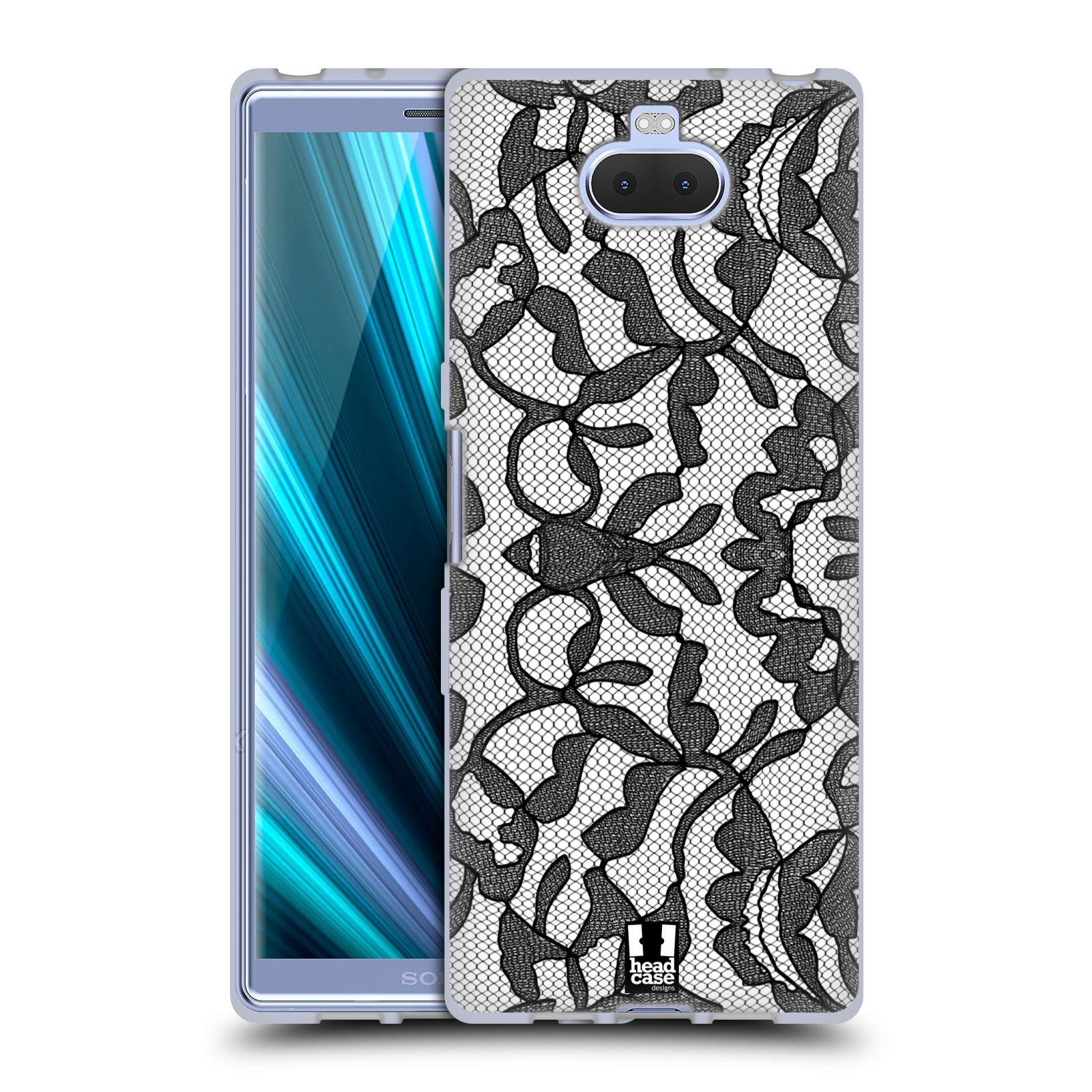 Silikonové pouzdro na mobil Sony Xperia 10 - Head Case - LEAFY KRAJKA