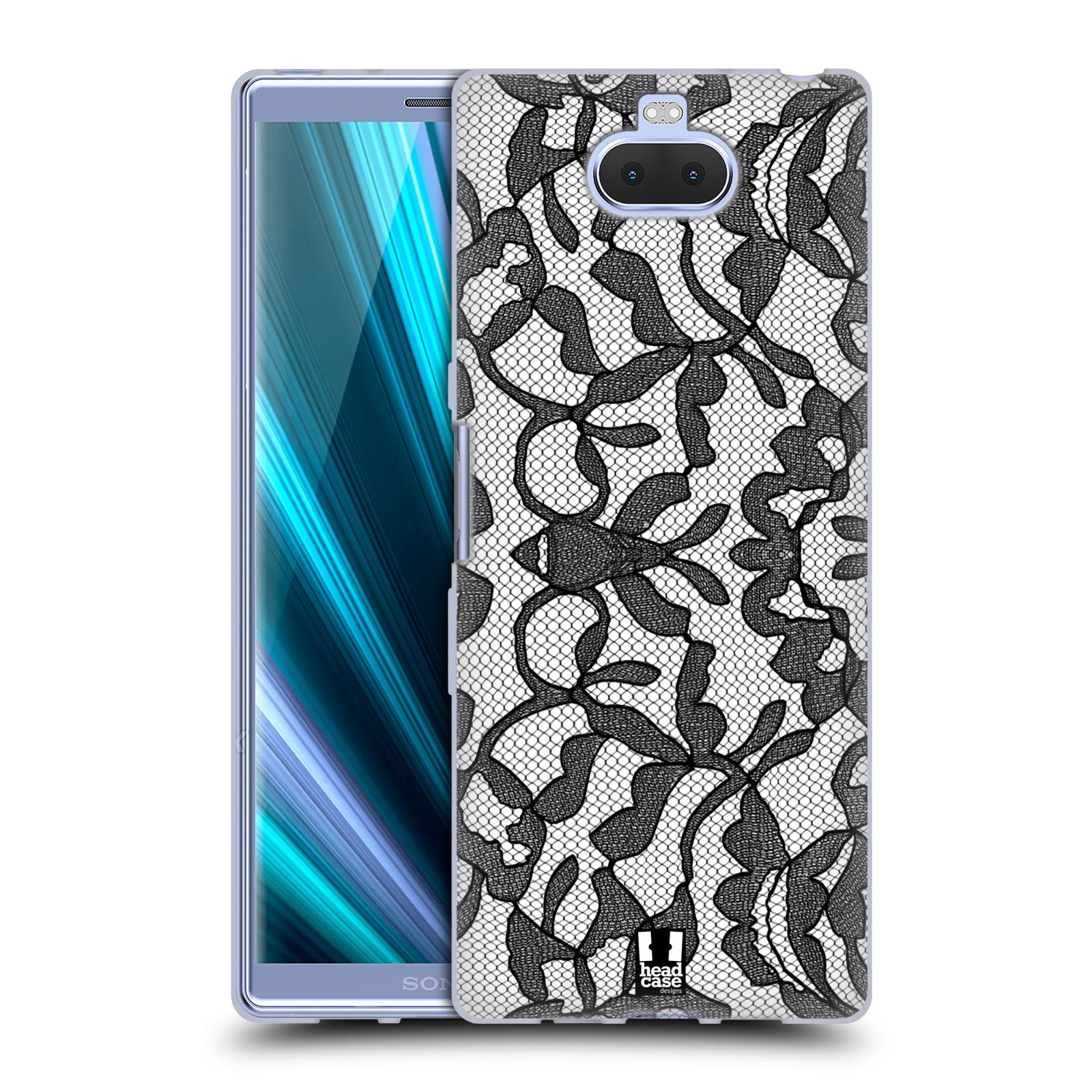 Silikonové pouzdro na mobil Sony Xperia 10 Plus - Head Case - LEAFY KRAJKA