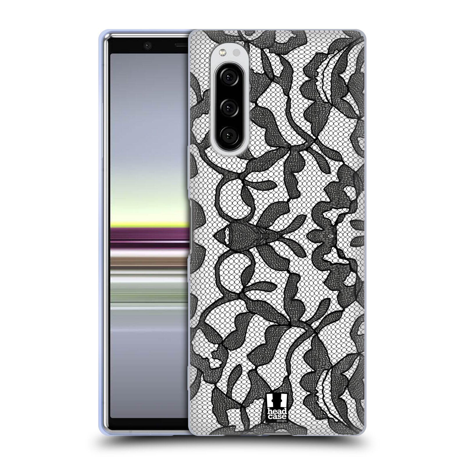 Silikonové pouzdro na mobil Sony Xperia 5 - Head Case - LEAFY KRAJKA
