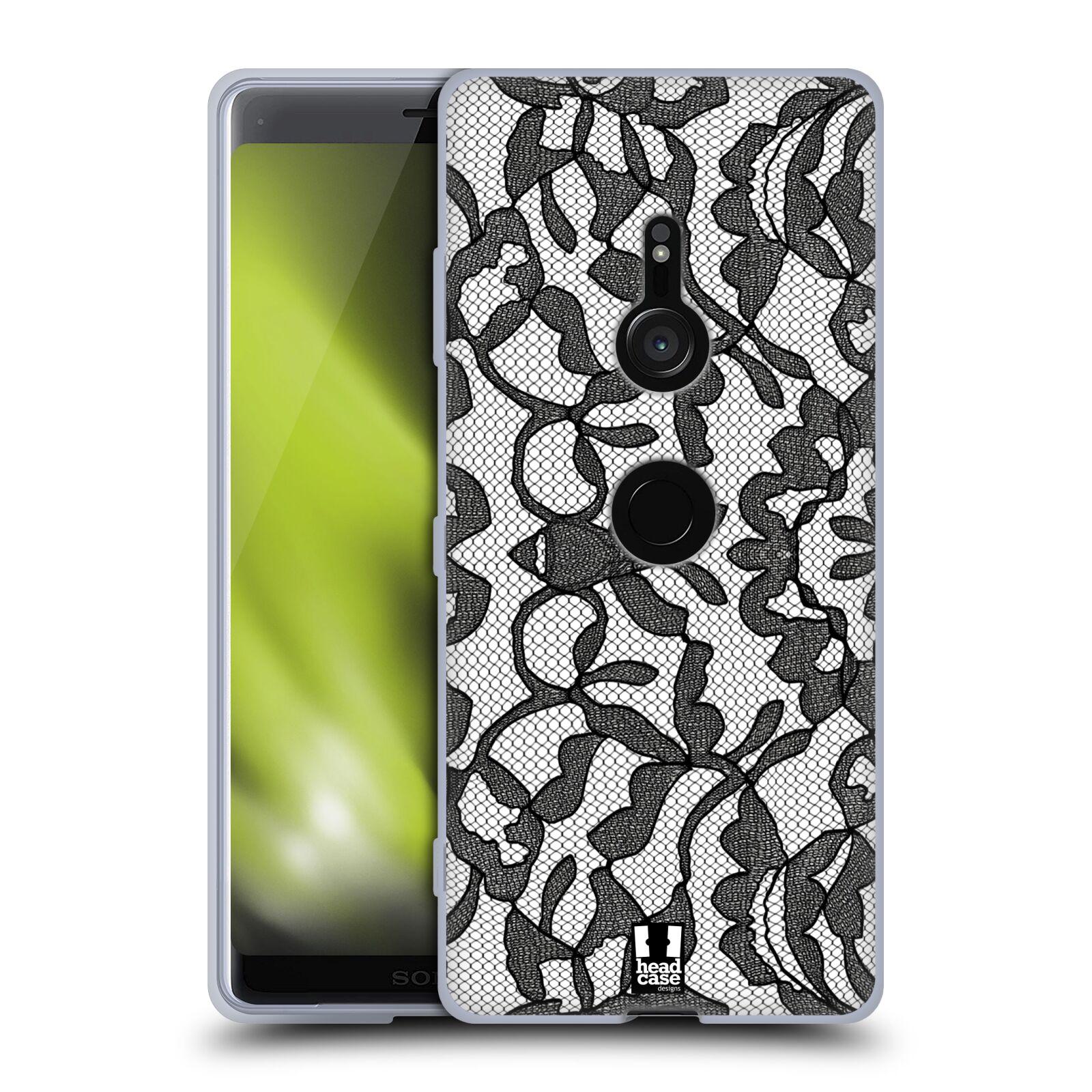 Silikonové pouzdro na mobil Sony Xperia XZ3 - Head Case - LEAFY KRAJKA
