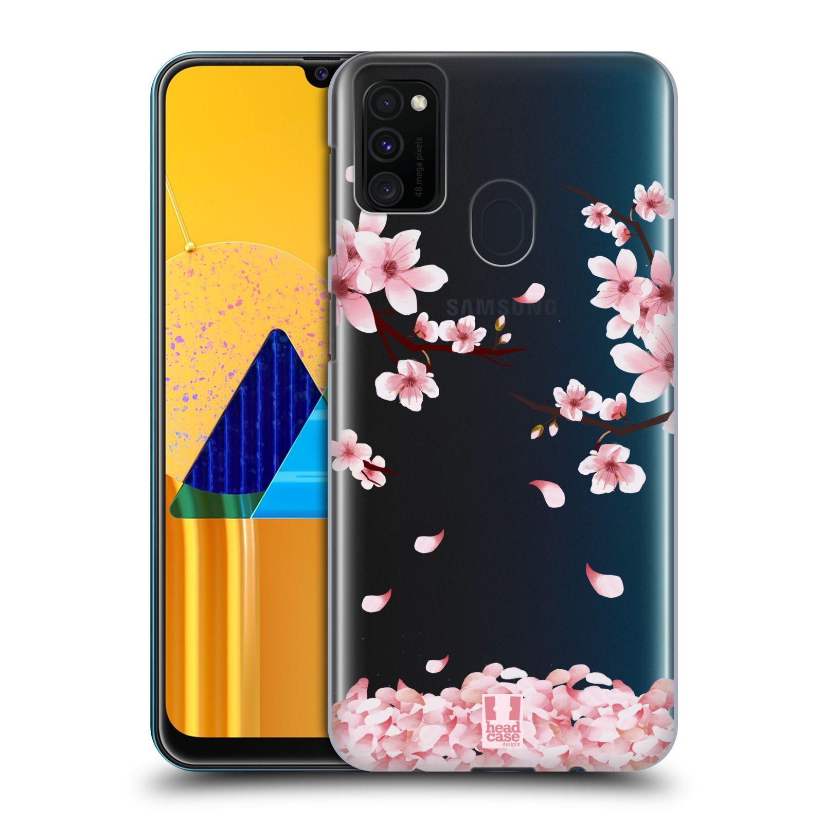 Plastové pouzdro na mobil Samsung Galaxy M21 - Head Case - Květy a větvičky