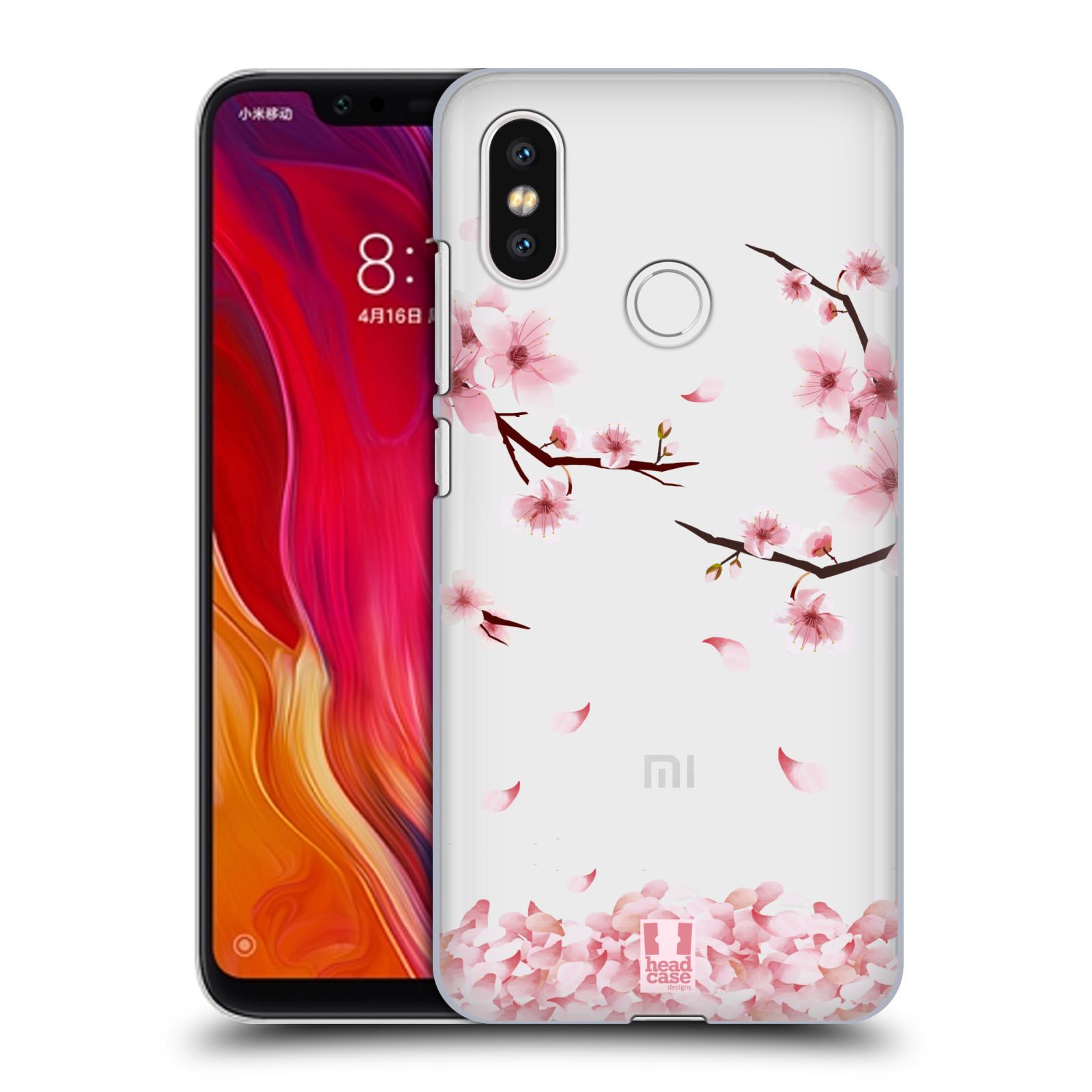 Plastové pouzdro na mobil Xiaomi Mi8 - Head Case - Květy a větvičky