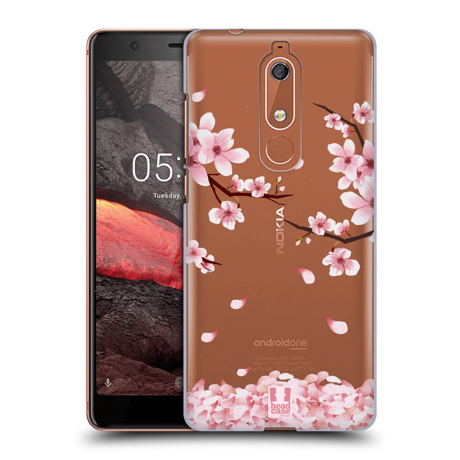 Plastové pouzdro na mobil Nokia 5.1 - Head Case - Květy a větvičky