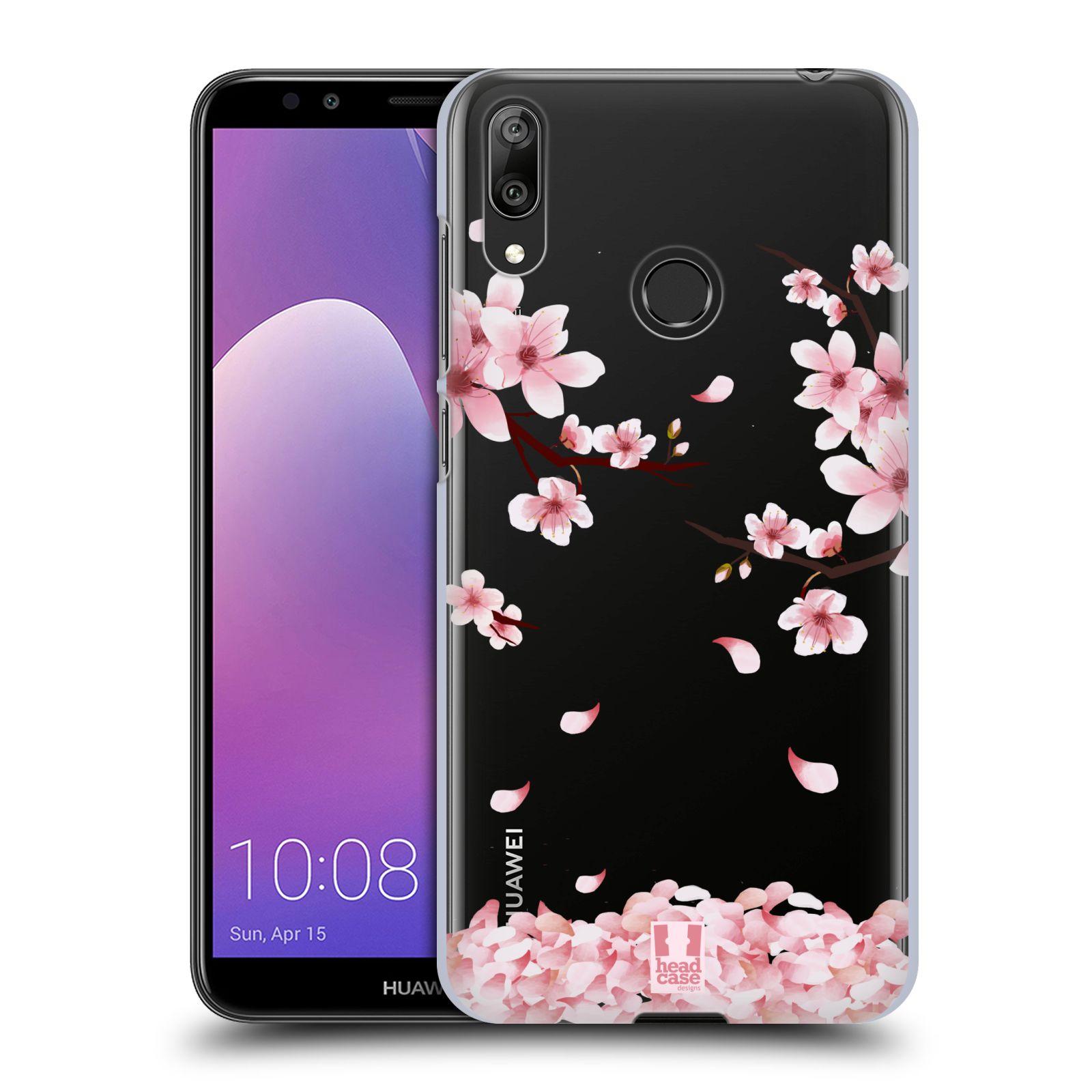 Plastové pouzdro na mobil Huawei Y7 (2019) - Head Case - Květy a větvičky