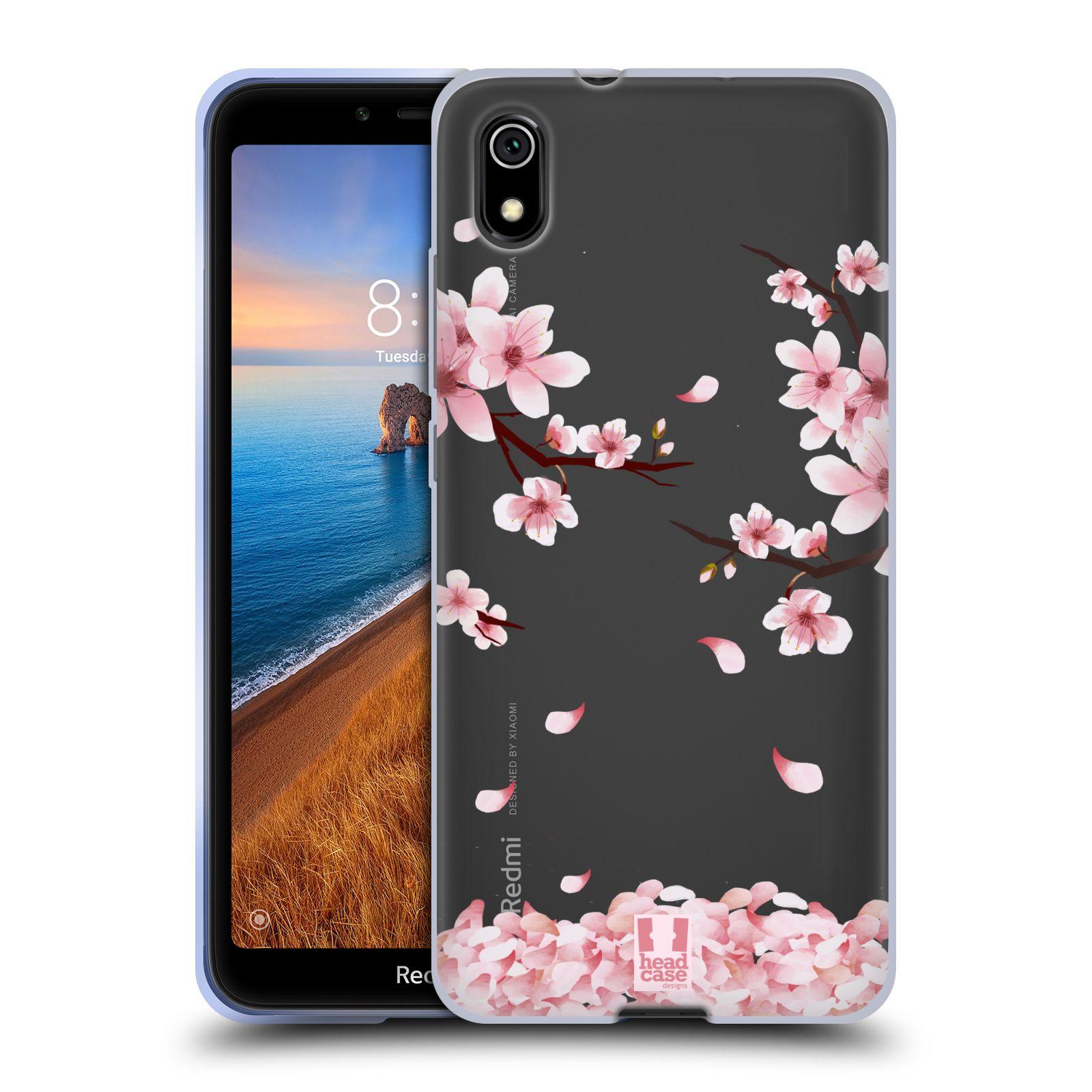 Silikonové pouzdro na mobil Redmi 7A - Head Case - Květy a větvičky