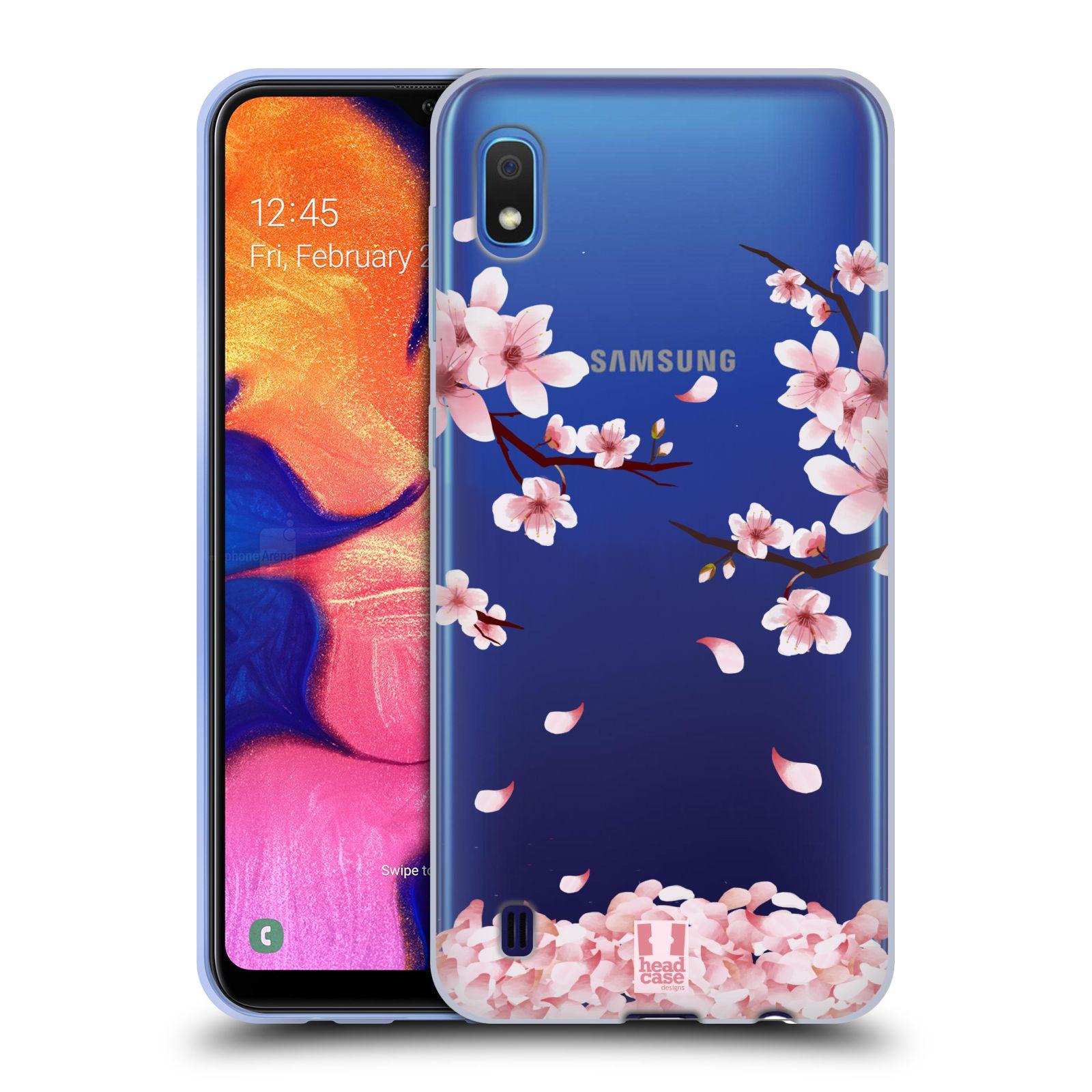 Silikonové pouzdro na mobil Samsung Galaxy A10 - Head Case - Květy a větvičky