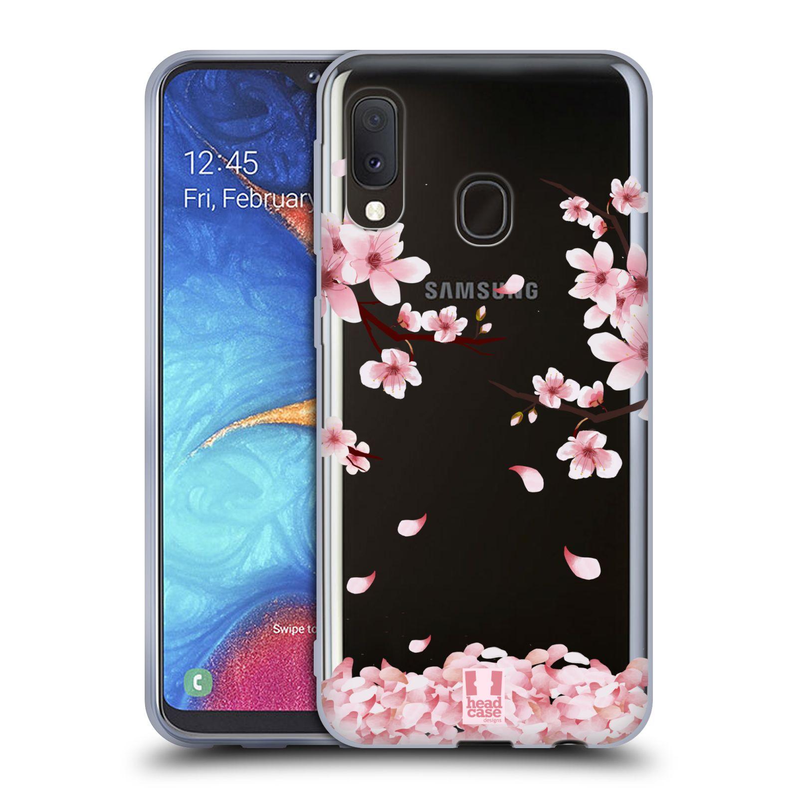 Silikonové pouzdro na mobil Samsung Galaxy A20e - Head Case - Květy a větvičky