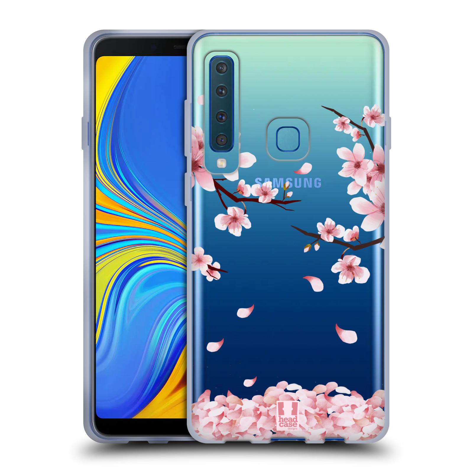 Silikonové pouzdro na mobil Samsung Galaxy A9 (2018) - Head Case - Květy a větvičky