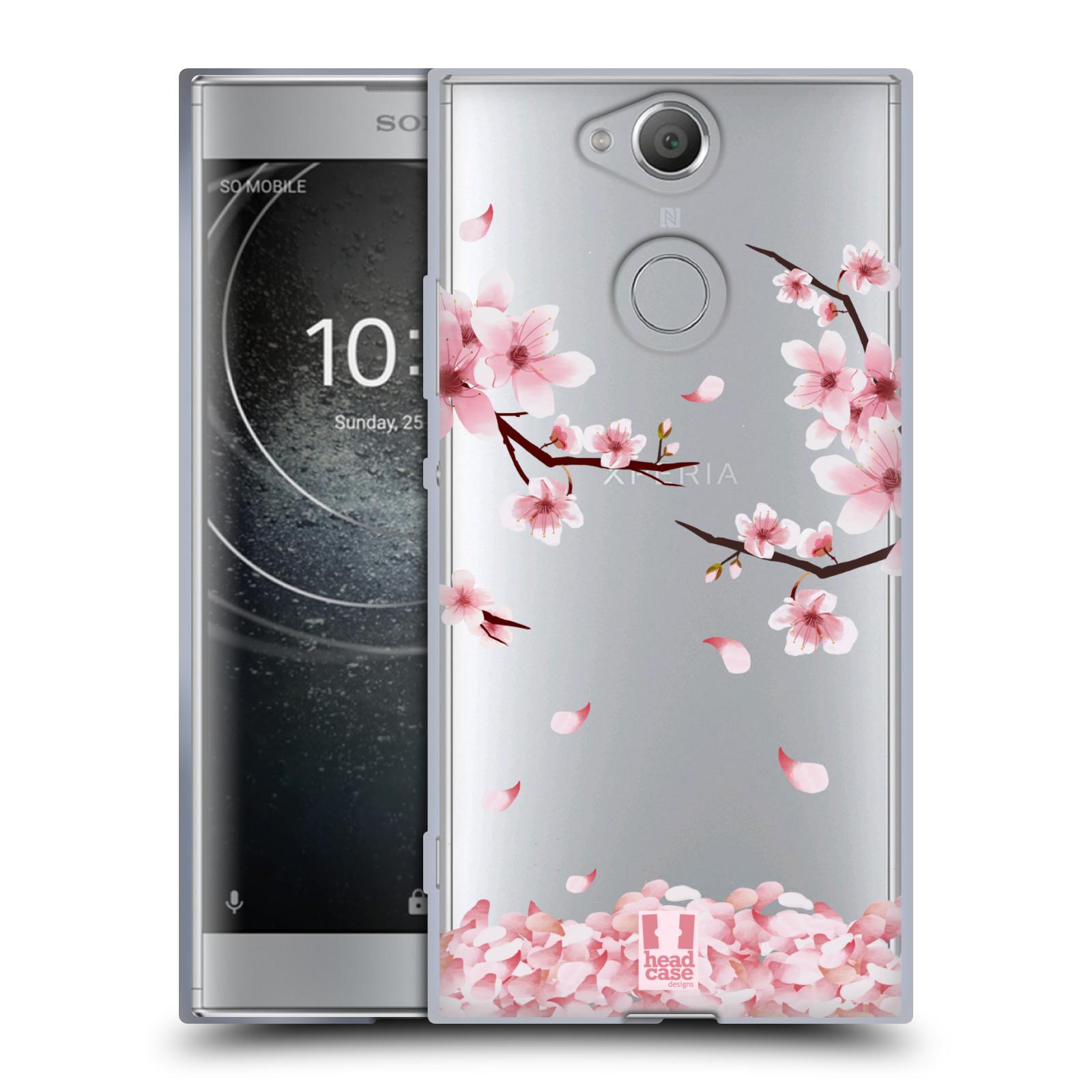 Silikonové pouzdro na mobil Sony Xperia XA2 - Head Case - Květy a větvičky