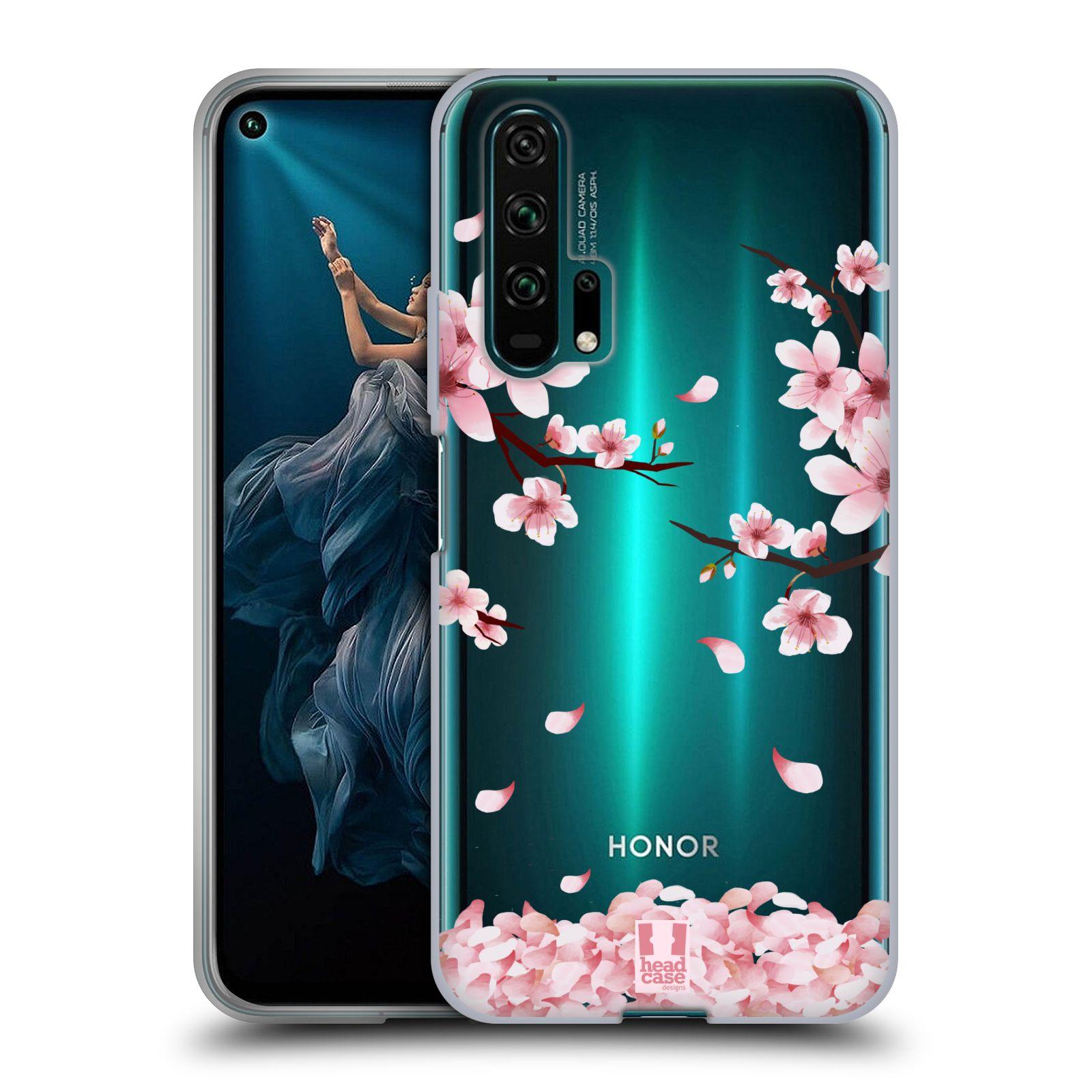 Silikonové pouzdro na mobil Honor 20 Pro - Head Case - Květy a větvičky