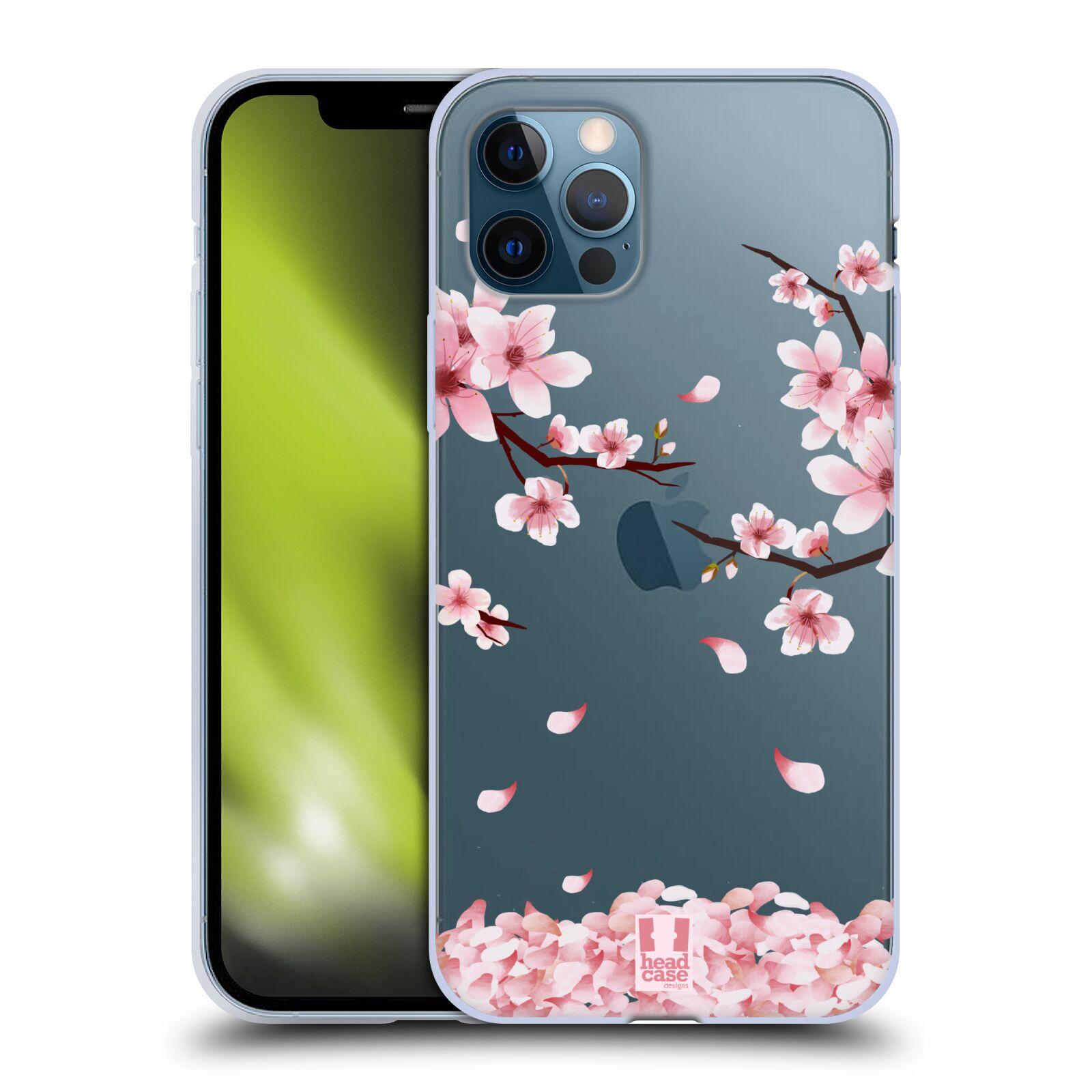 Silikonové pouzdro na mobil Apple iPhone 12 / 12 Pro - Head Case - Květy a větvičky