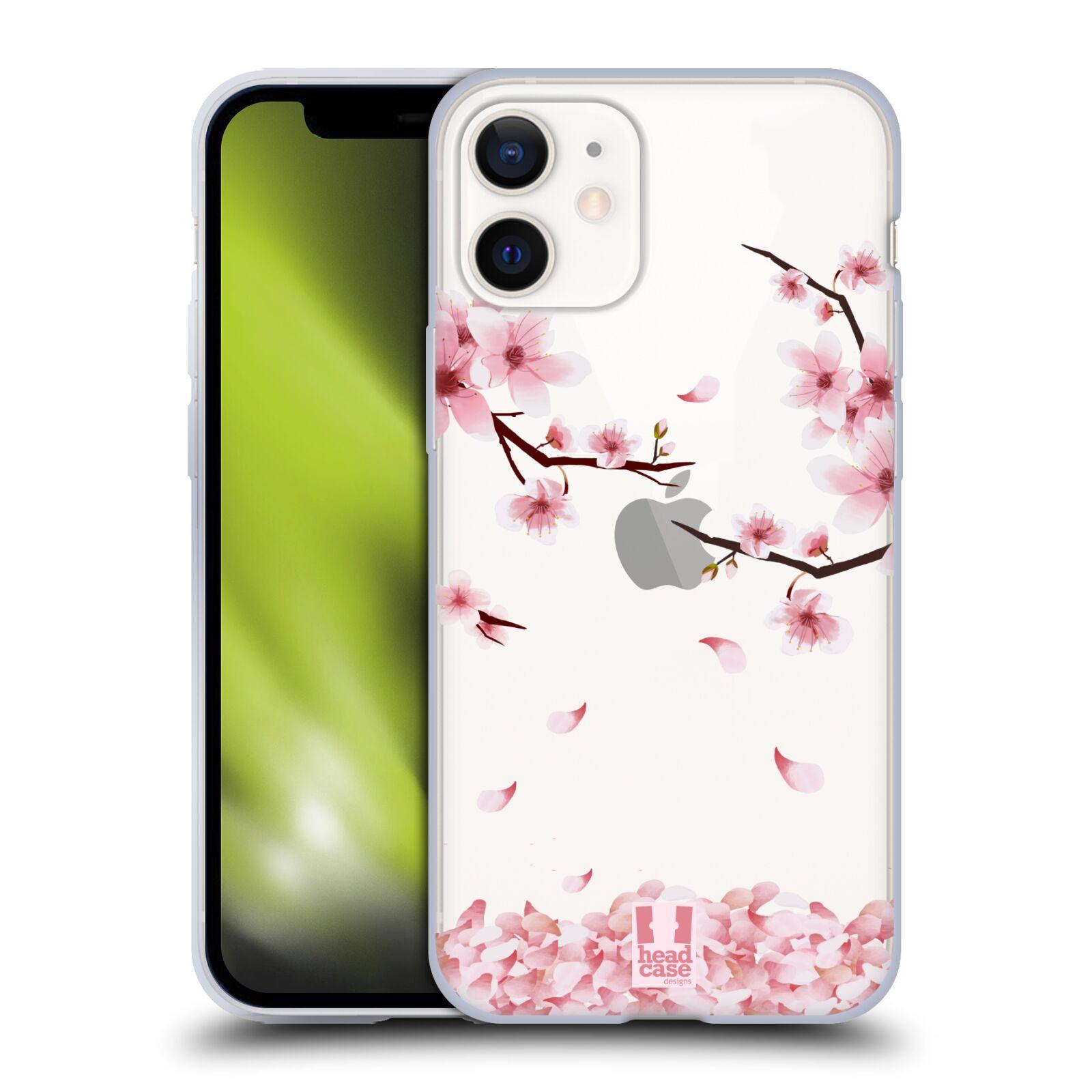 Silikonové pouzdro na mobil Apple iPhone 12 Mini - Head Case - Květy a větvičky