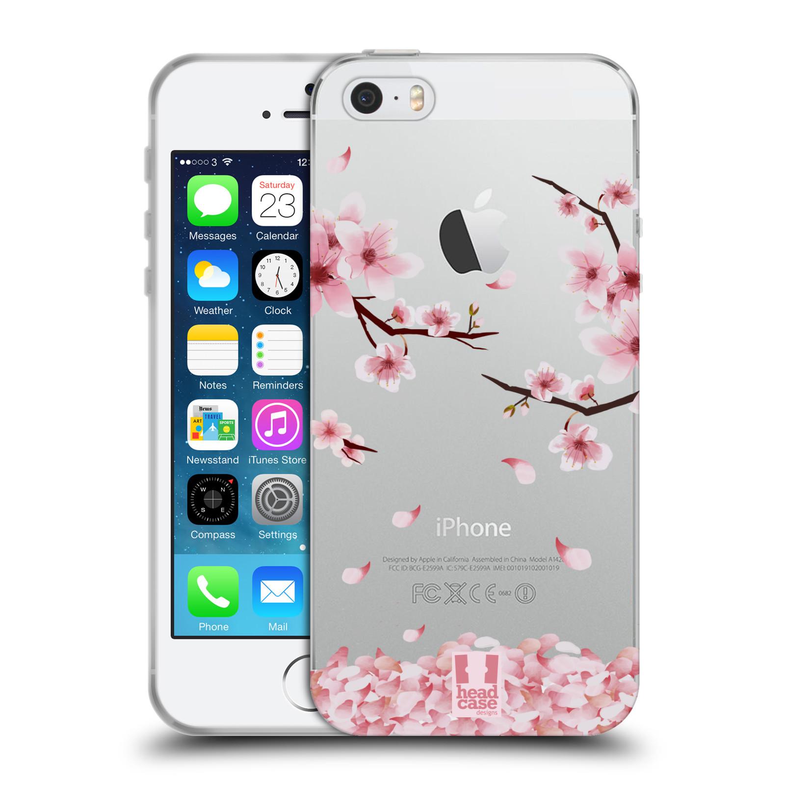 Silikonové pouzdro na mobil Apple iPhone 5, 5S, SE - Head Case - Květy a větvičky