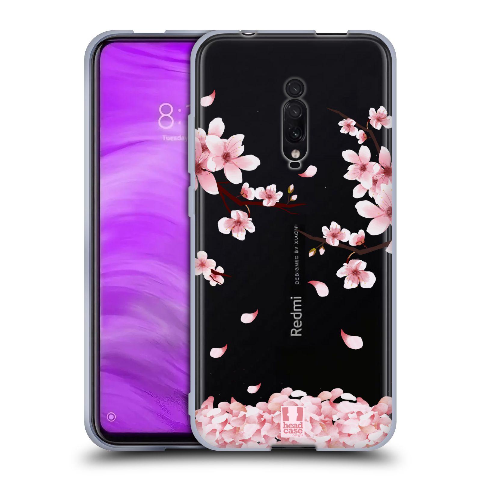 Silikonové pouzdro na mobil Xiaomi Mi 9T - Head Case - Květy a větvičky