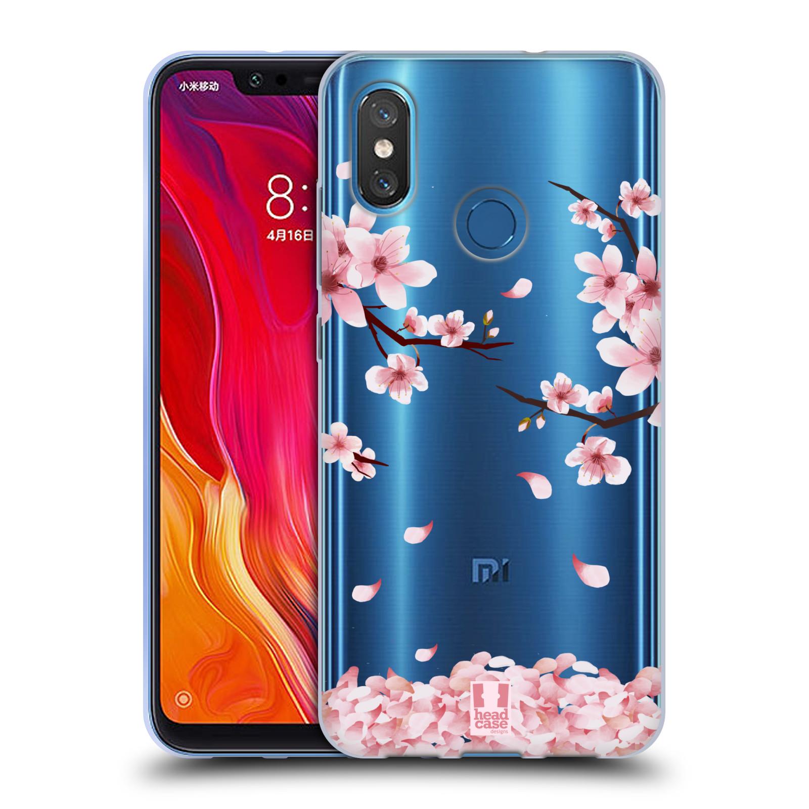 Silikonové pouzdro na mobil Xiaomi Mi8 - Head Case - Květy a větvičky