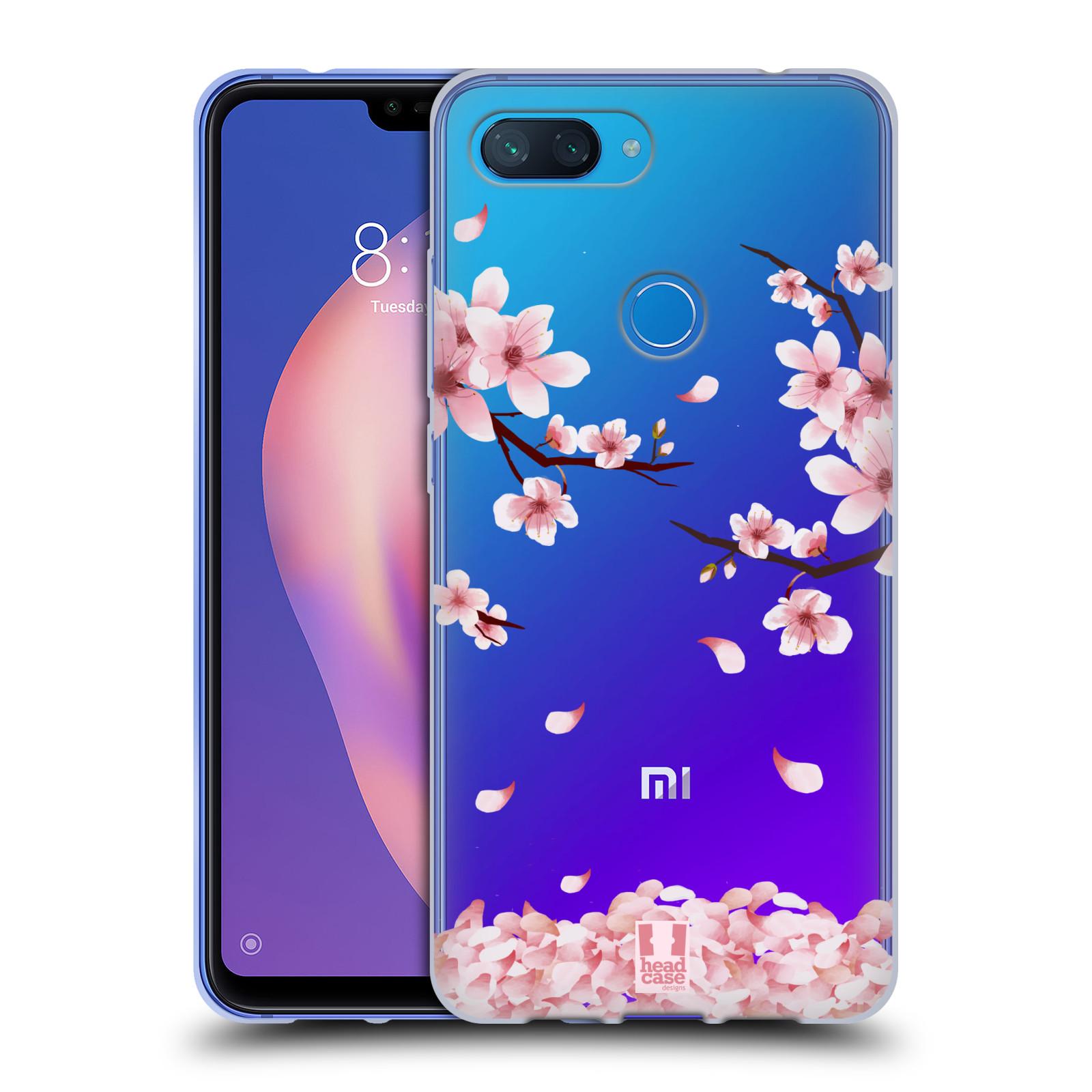 Silikonové pouzdro na mobil Xiaomi Mi 8 Lite - Head Case - Květy a větvičky