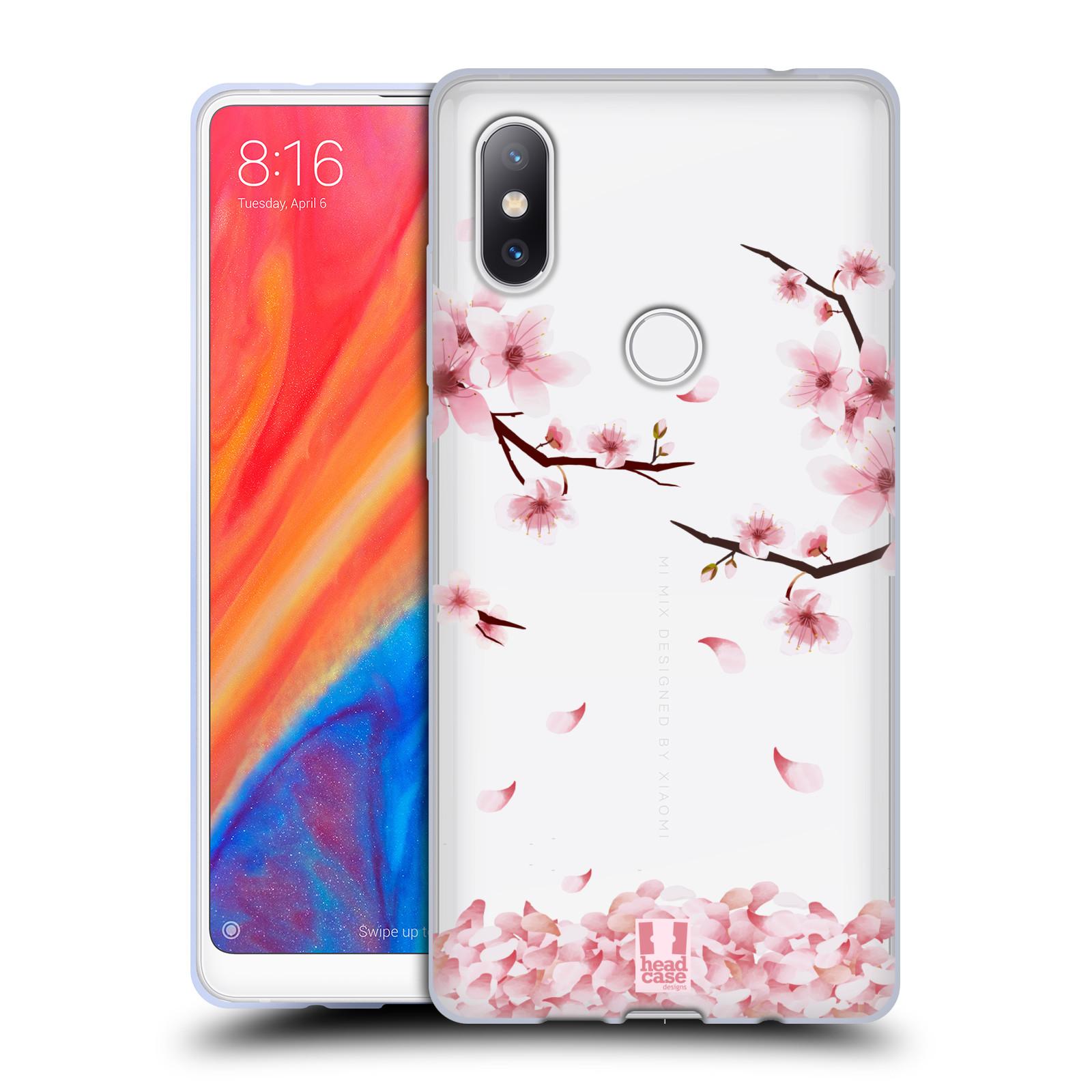 Silikonové pouzdro na mobil Xiaomi Mi Mix 2S - Head Case - Květy a větvičky