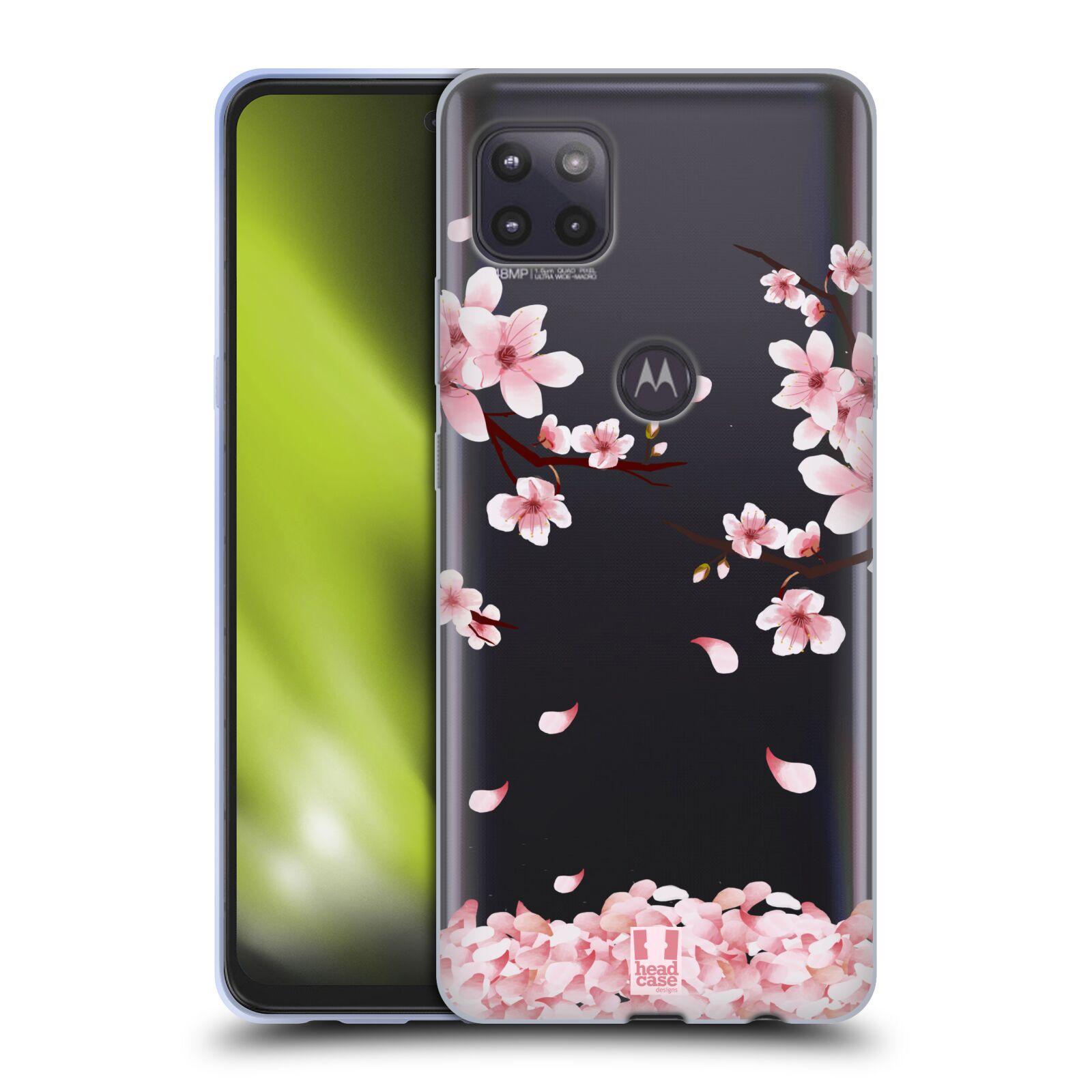 Silikonové pouzdro na mobil Motorola Moto G 5G - Head Case - Květy a větvičky