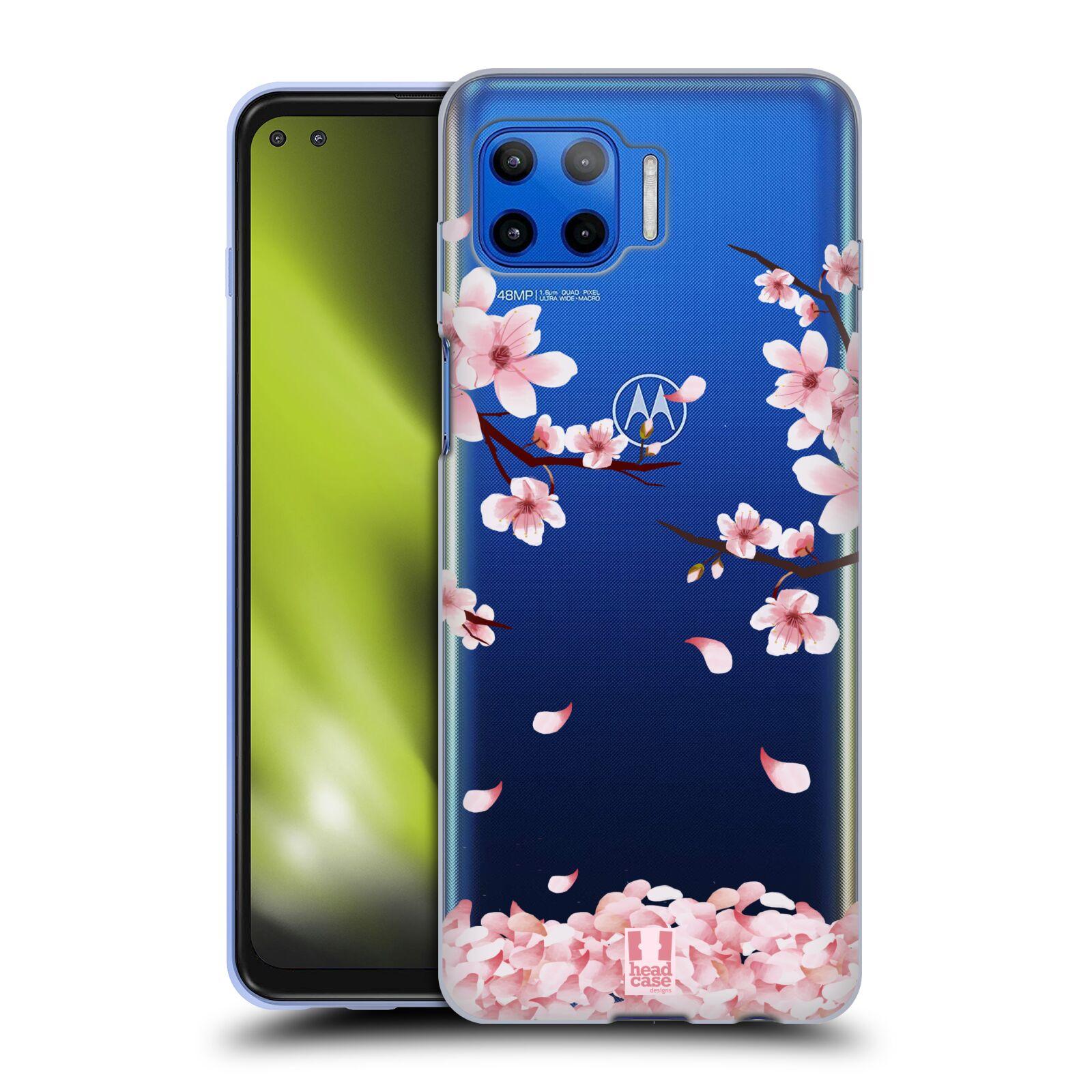 Silikonové pouzdro na mobil Motorola Moto G 5G Plus - Head Case - Květy a větvičky