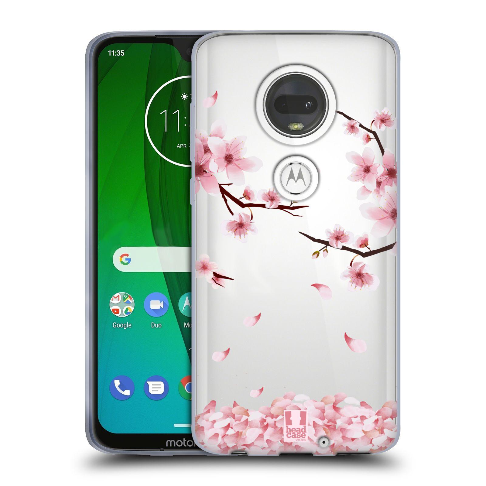 Silikonové pouzdro na mobil Motorola Moto G7 - Head Case - Květy a větvičky
