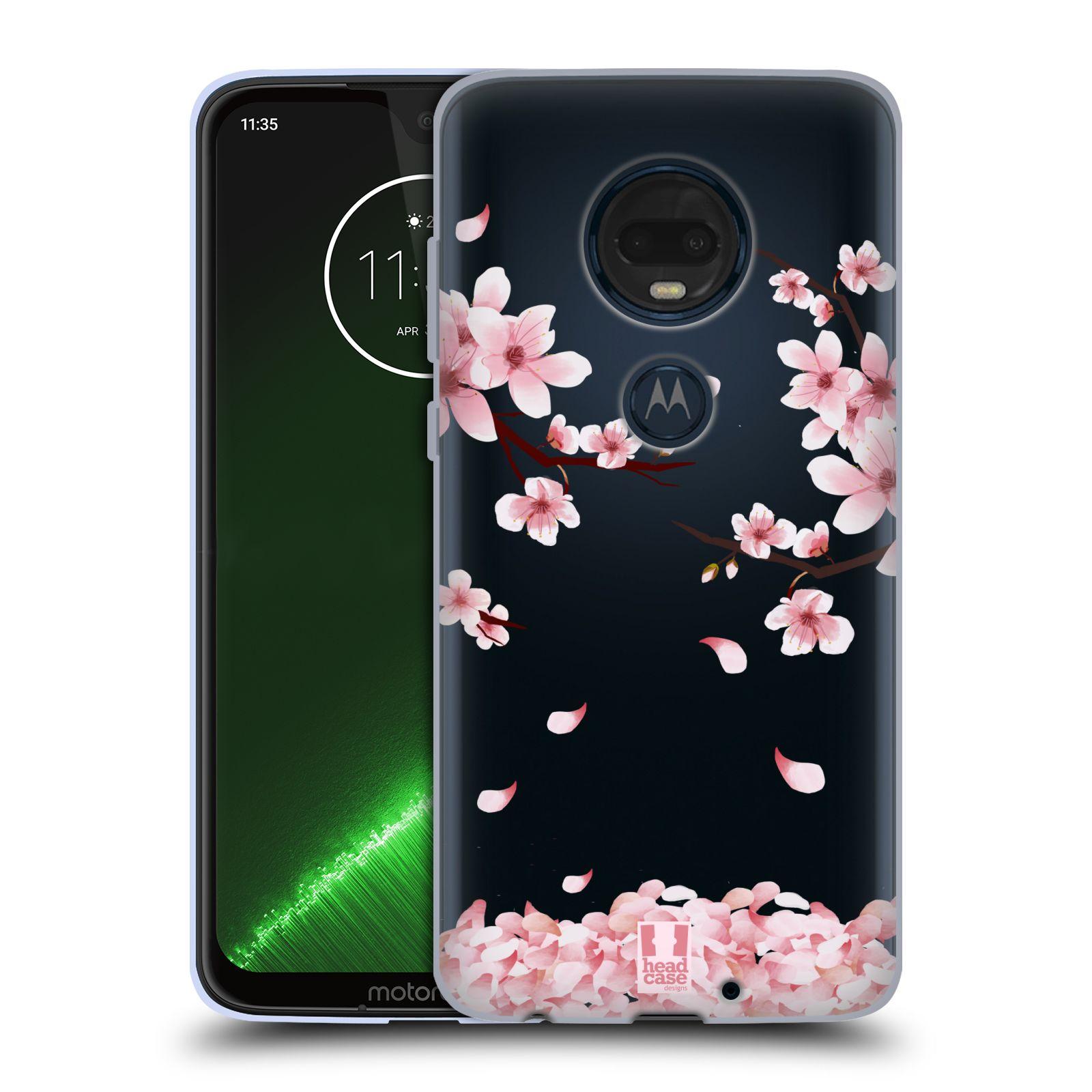 Silikonové pouzdro na mobil Motorola Moto G7 Plus - Head Case - Květy a větvičky