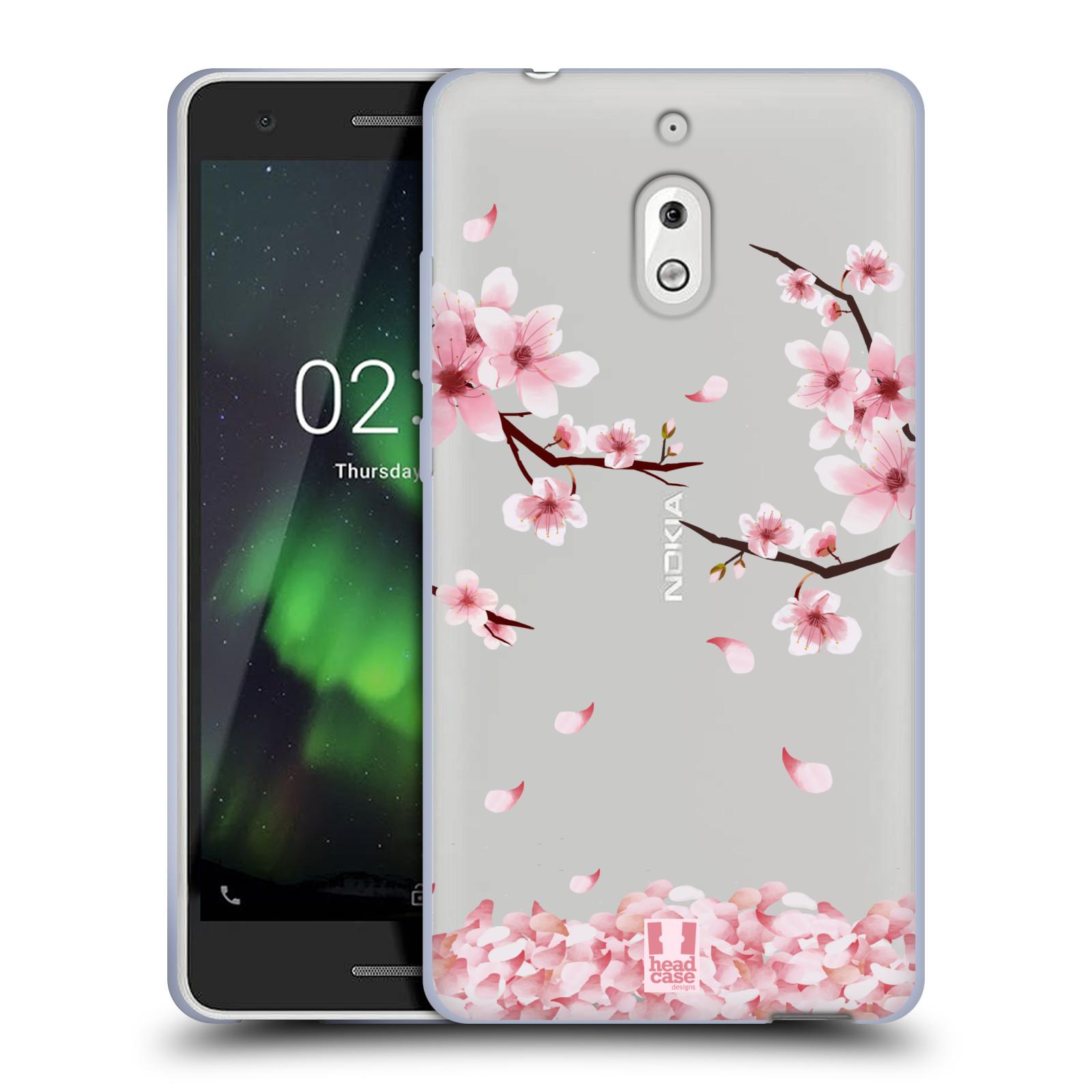 Silikonové pouzdro na mobil Nokia 2.1 - Head Case - Květy a větvičky