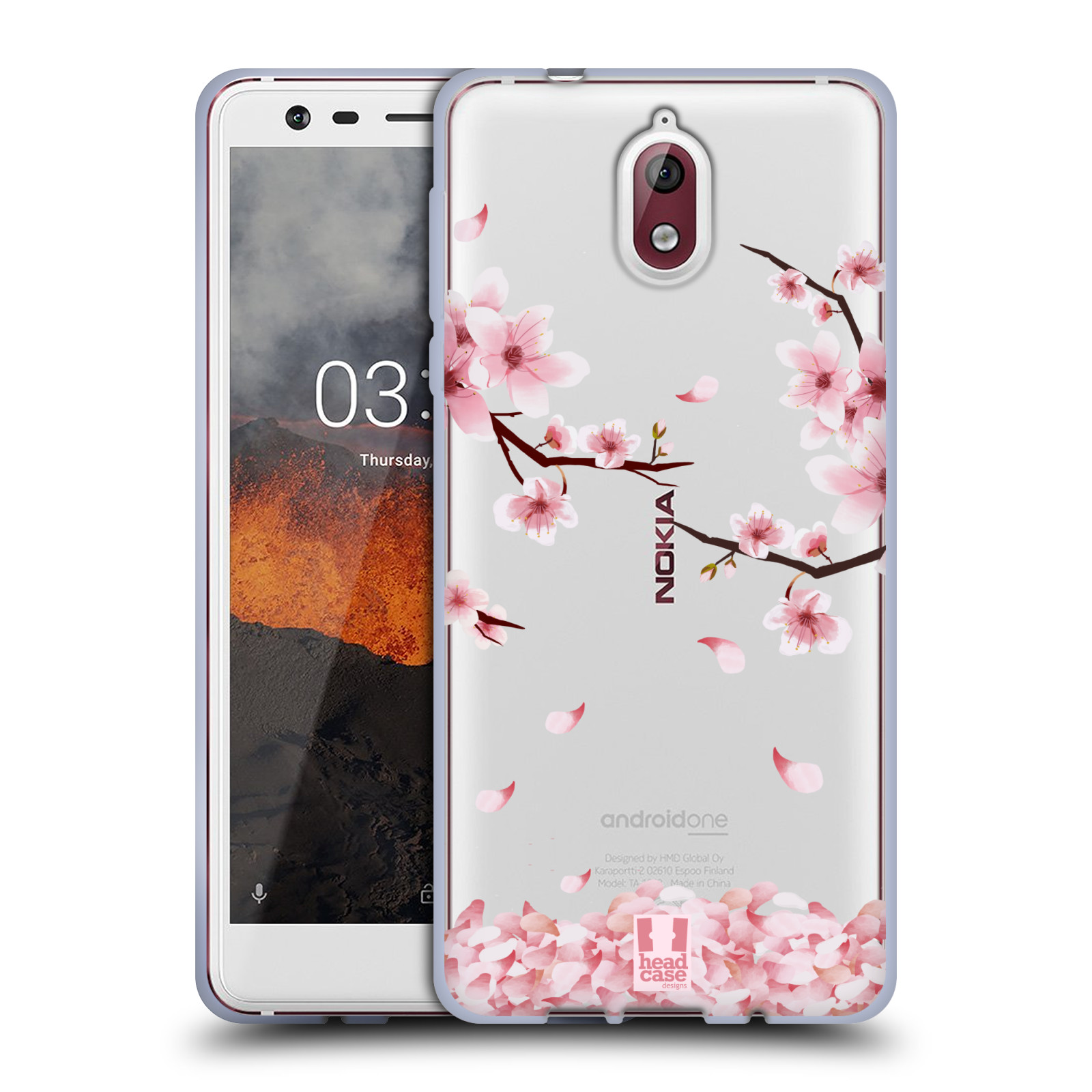 Silikonové pouzdro na mobil Nokia 3.1 - Head Case - Květy a větvičky