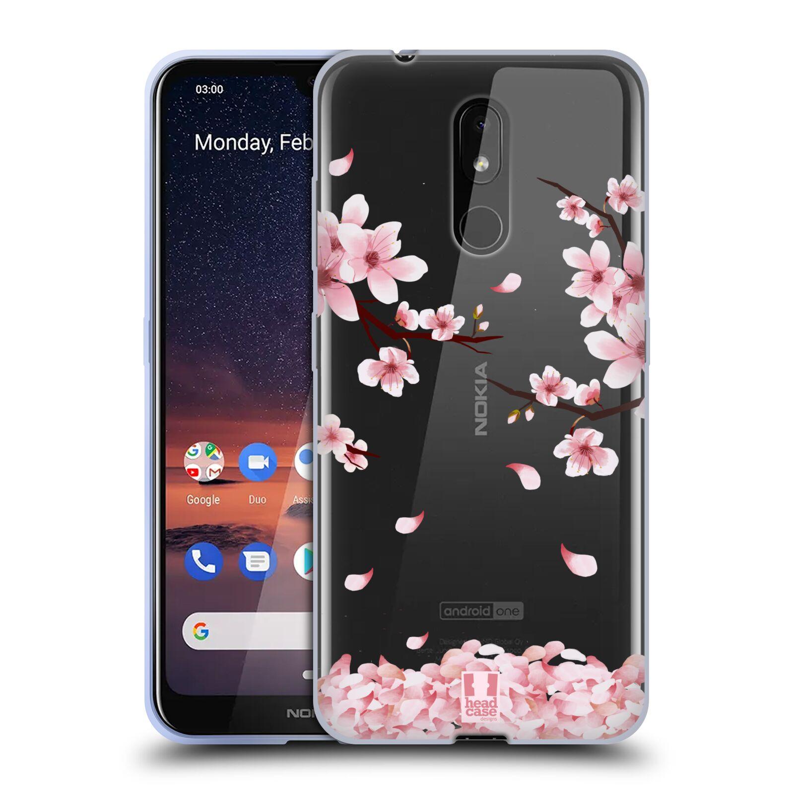 Silikonové pouzdro na mobil Nokia 3.2 - Head Case - Květy a větvičky