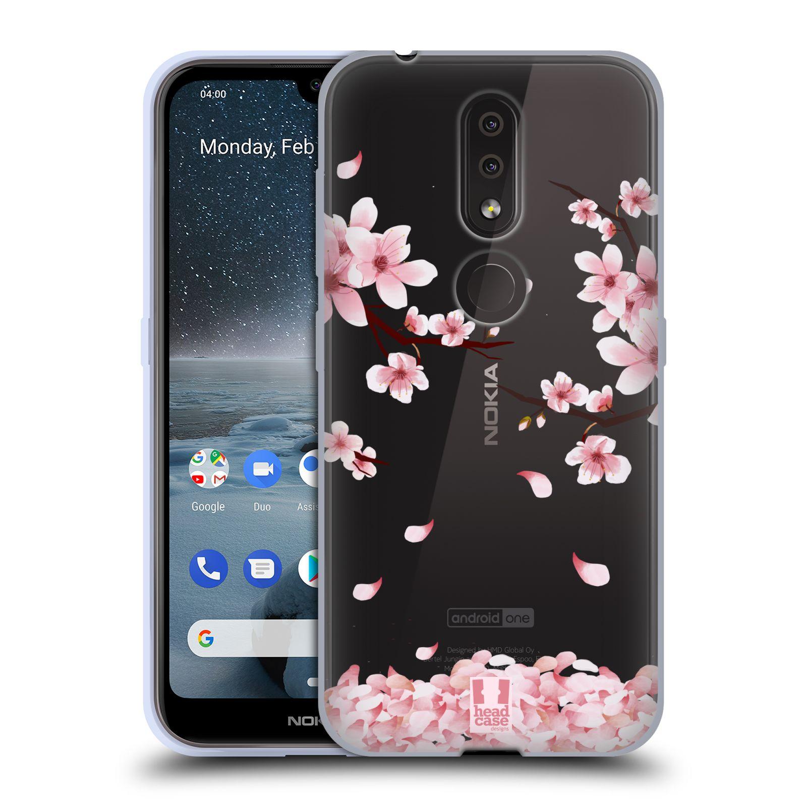 Silikonové pouzdro na mobil Nokia 4.2 - Head Case - Květy a větvičky