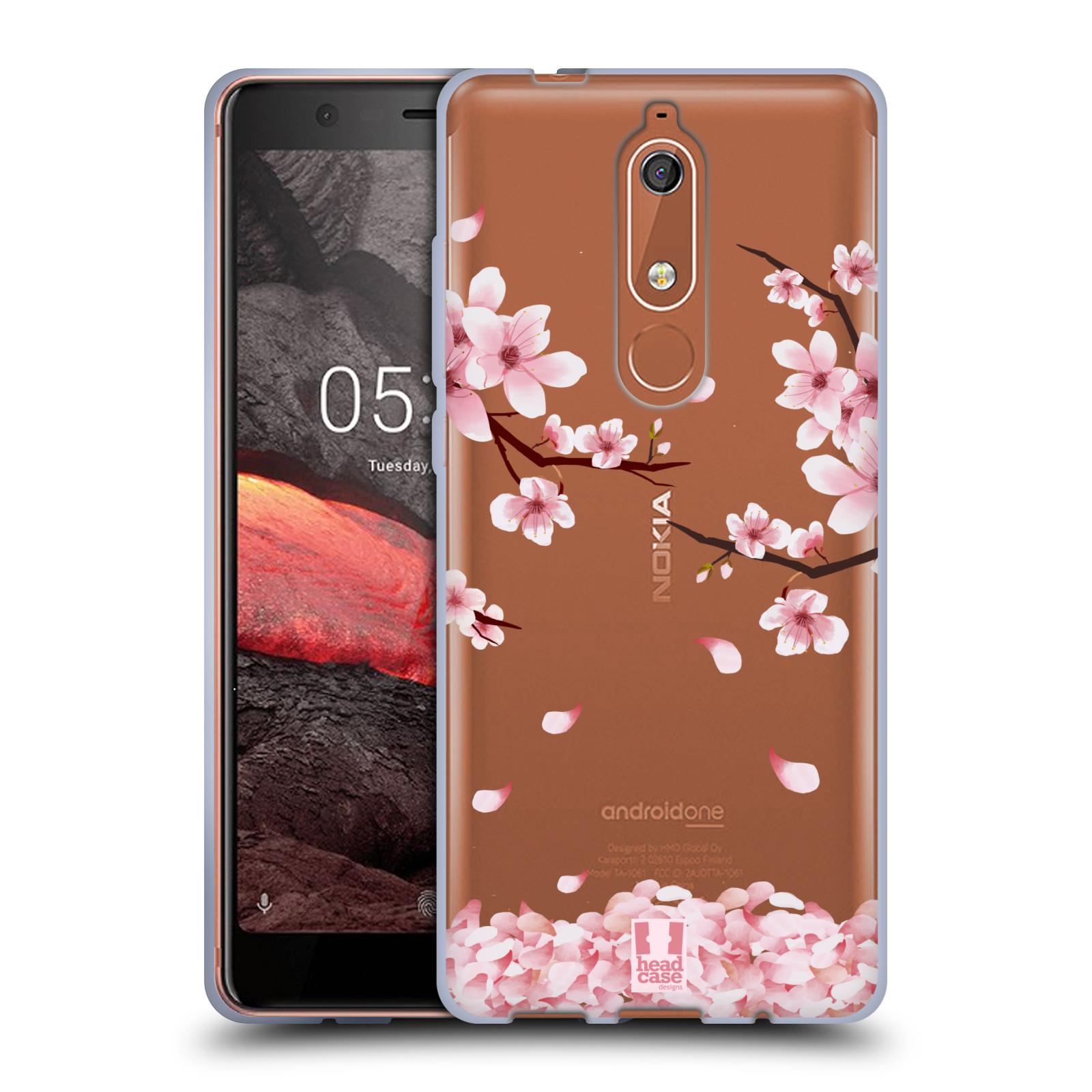 Silikonové pouzdro na mobil Nokia 5.1 - Head Case - Květy a větvičky