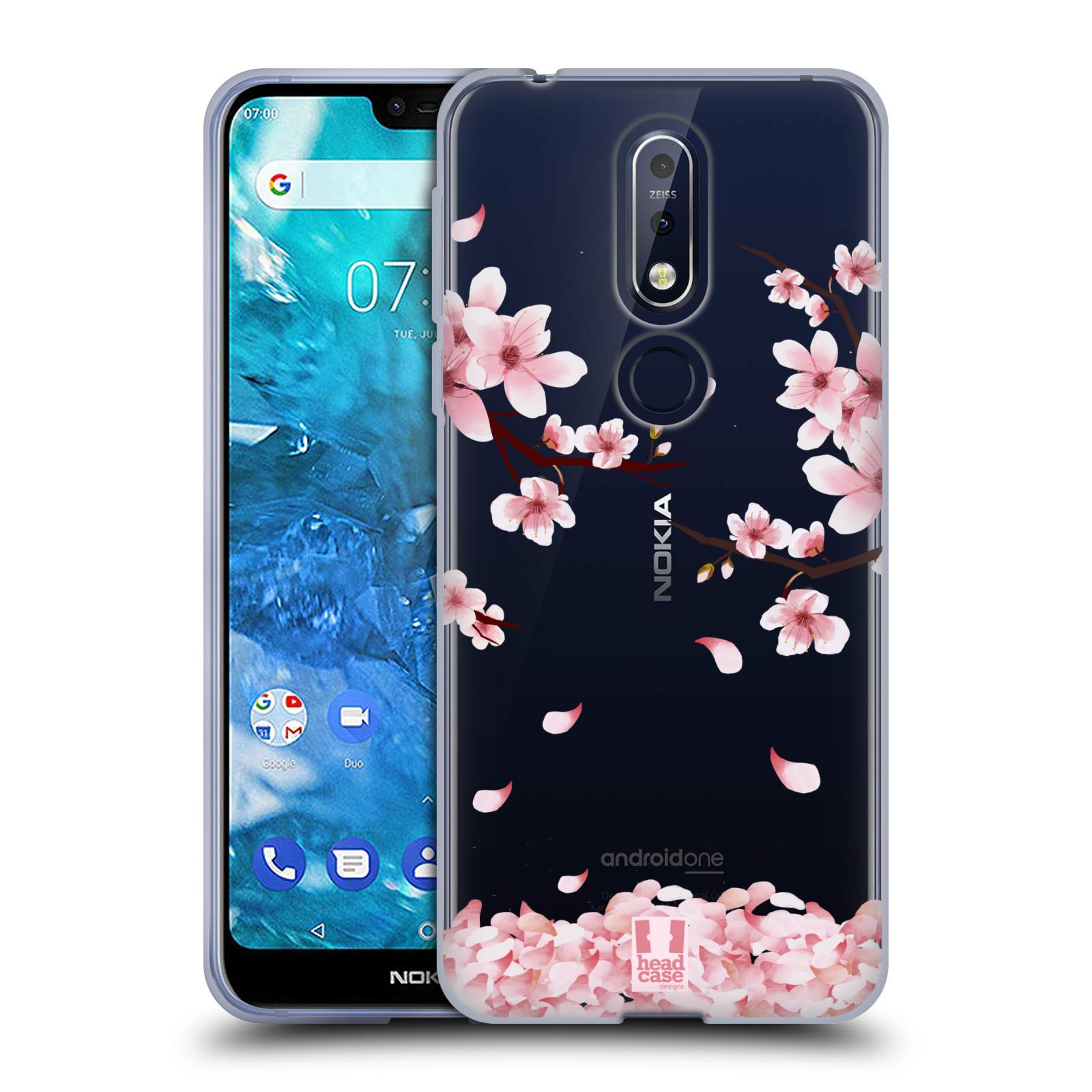 Silikonové pouzdro na mobil Nokia 7.1 - Head Case - Květy a větvičky
