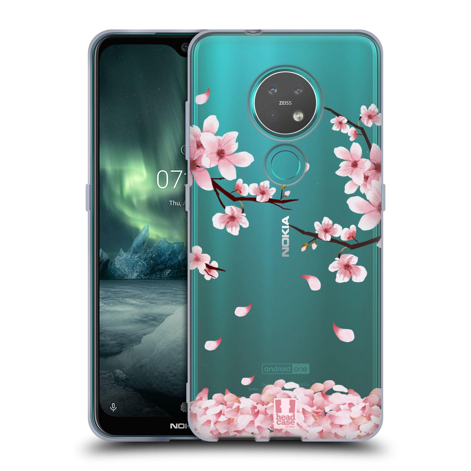 Silikonové pouzdro na mobil Nokia 6.2 - Head Case - Květy a větvičky