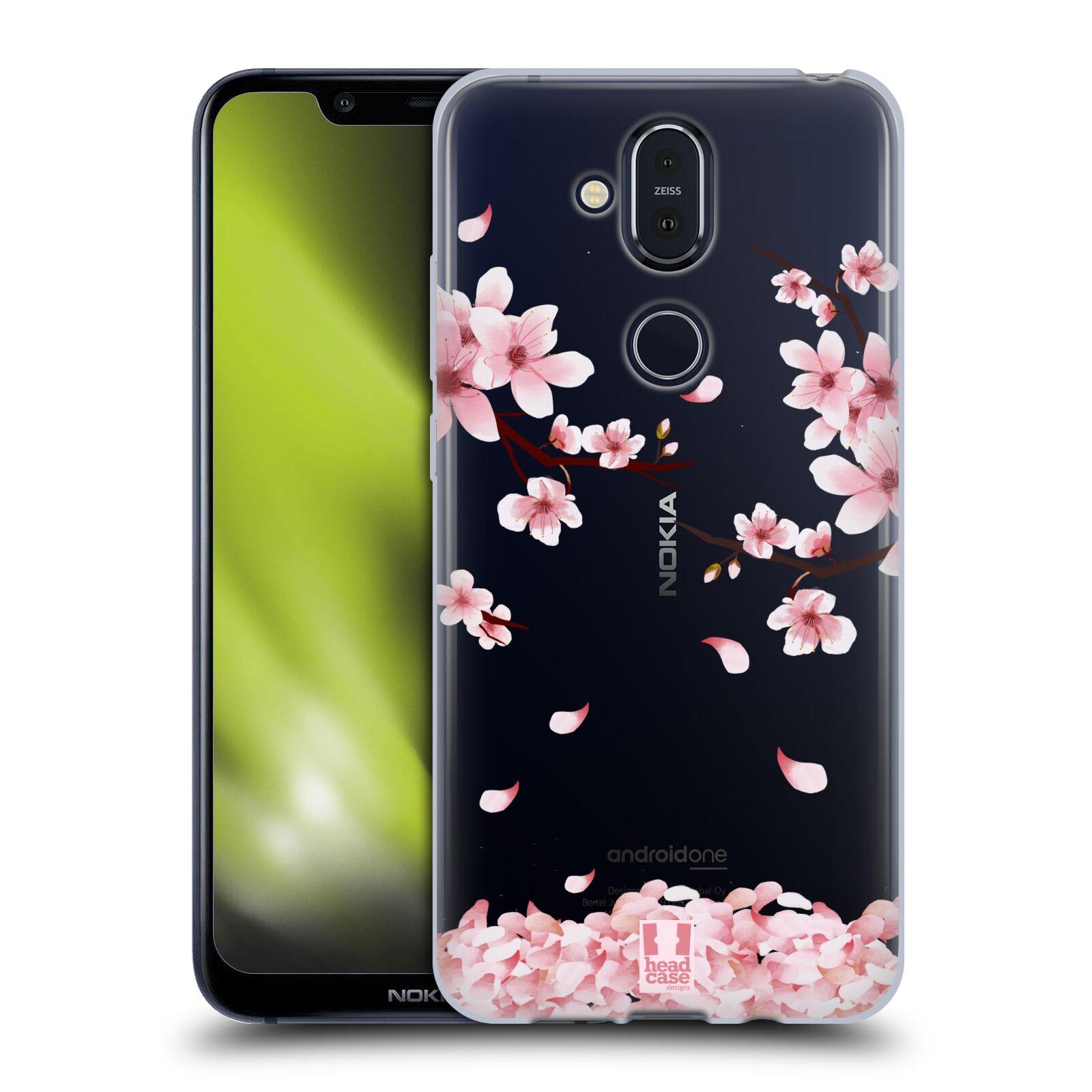 Silikonové pouzdro na mobil Nokia 8.1 - Head Case - Květy a větvičky