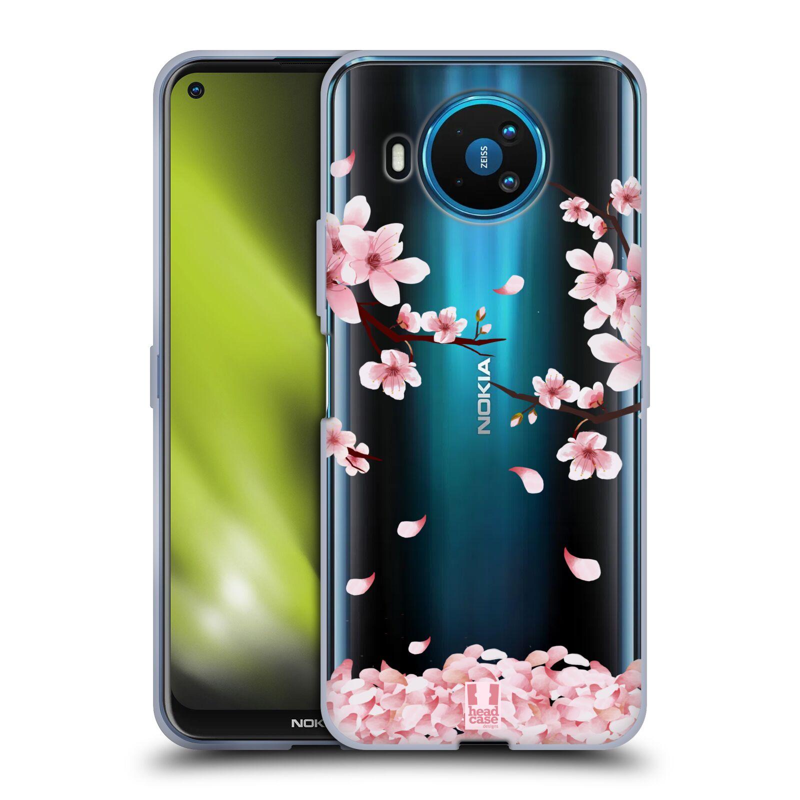 Silikonové pouzdro na mobil Nokia 8.3 5G - Head Case - Květy a větvičky
