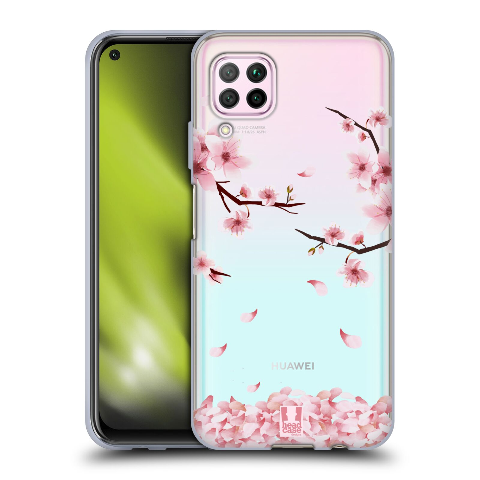 Silikonové pouzdro na mobil Huawei P40 Lite - Head Case - Květy a větvičky