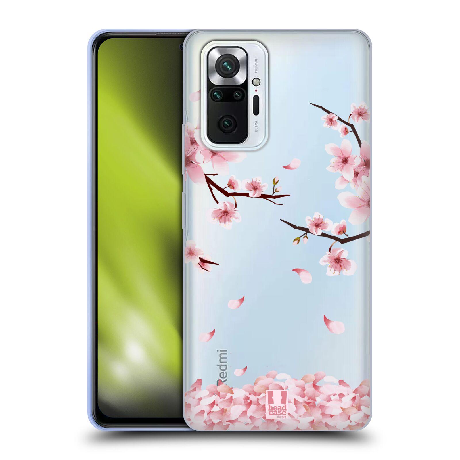Silikonové pouzdro na mobil Xiaomi Redmi Note 10 Pro - Head Case - Květy a větvičky