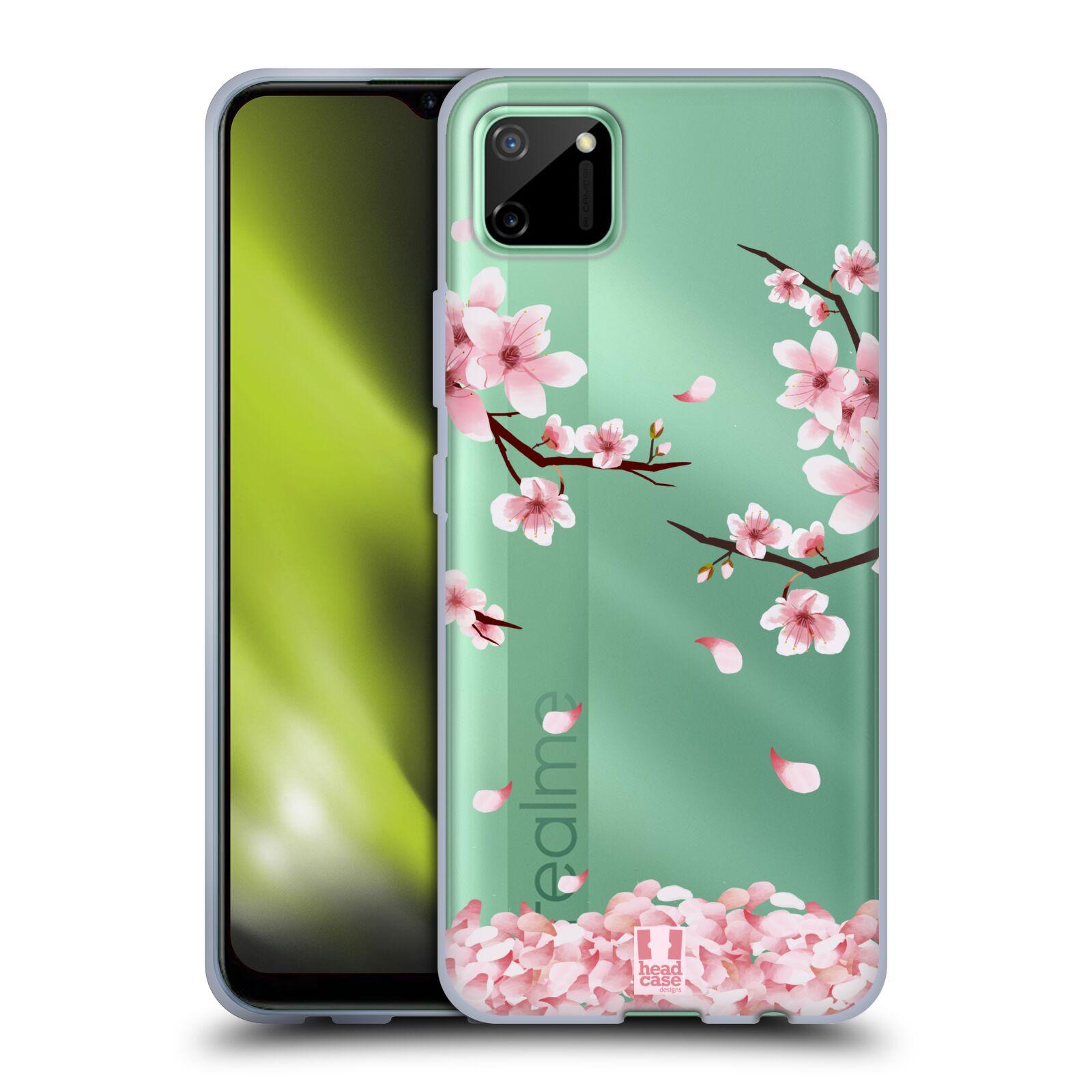 Silikonové pouzdro na mobil Realme C11 - Head Case - Květy a větvičky