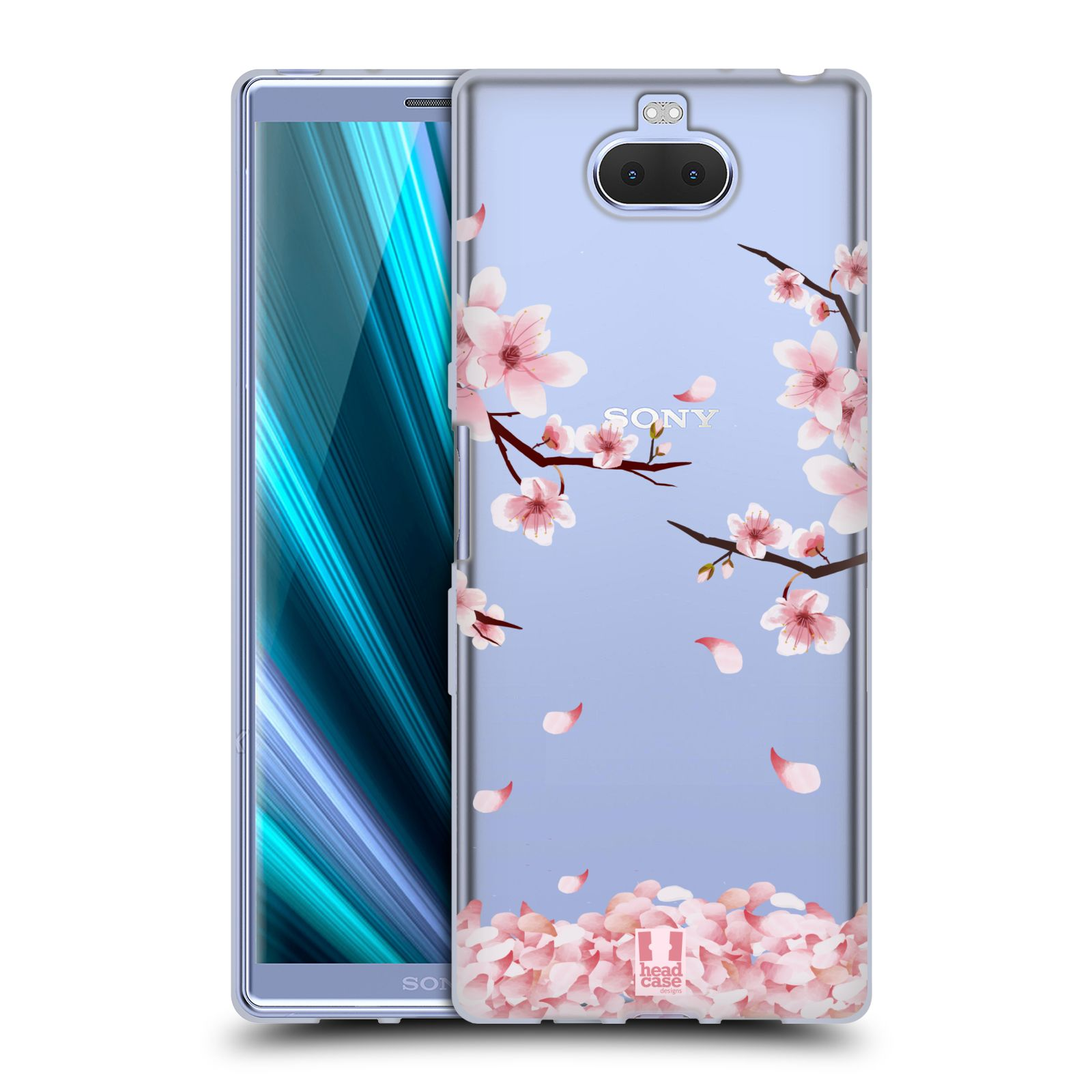 Silikonové pouzdro na mobil Sony Xperia 10 Plus - Head Case - Květy a větvičky