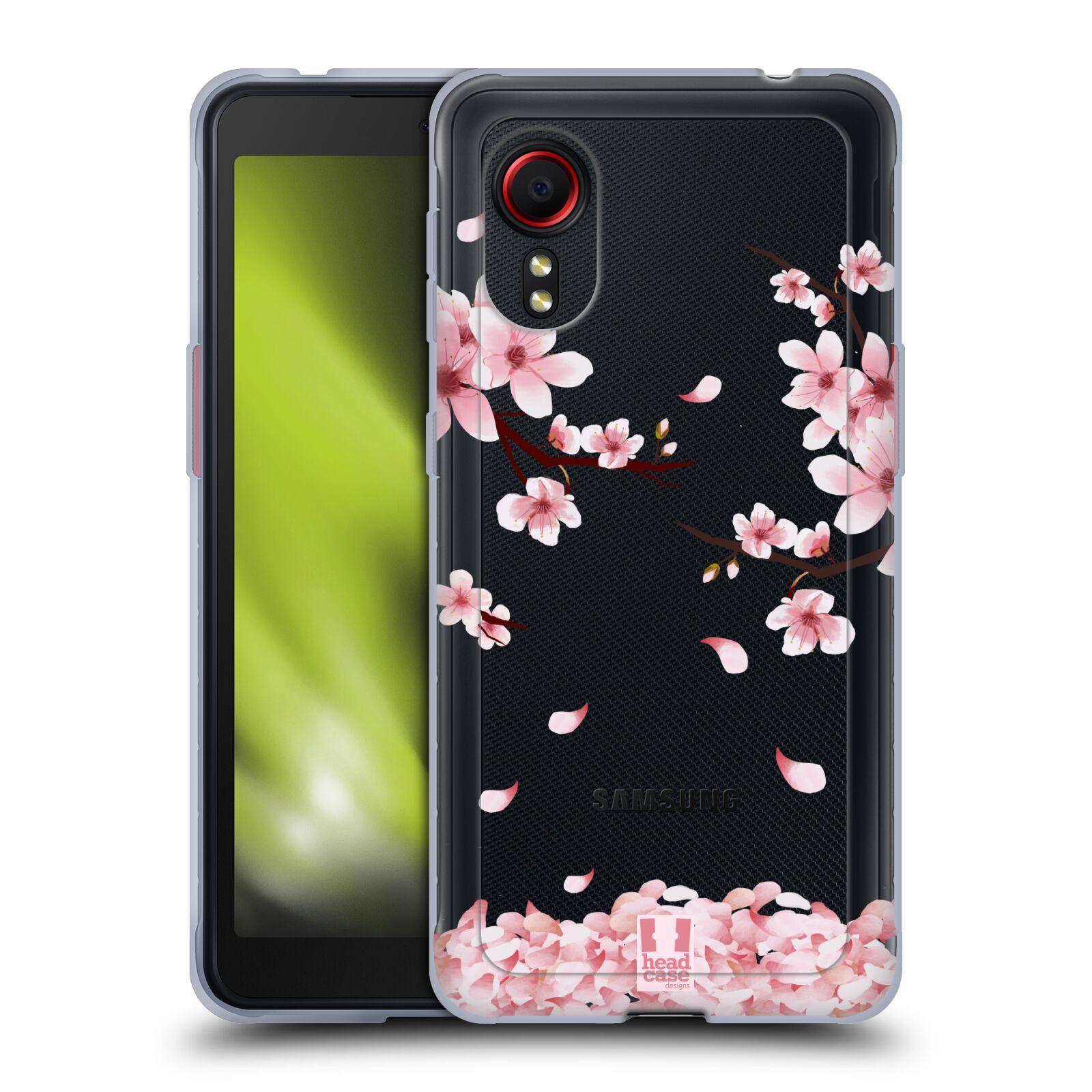 Silikonové pouzdro na mobil Samsung Galaxy Xcover 5 - Head Case - Květy a větvičky