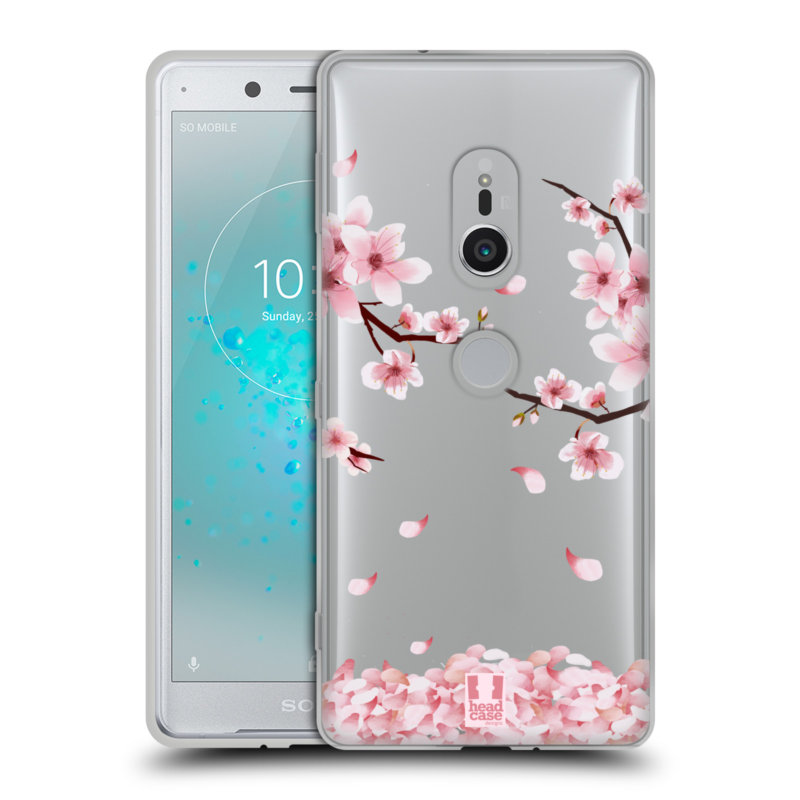 Silikonové pouzdro na mobil Sony Xperia XZ2 - Head Case - Květy a větvičky