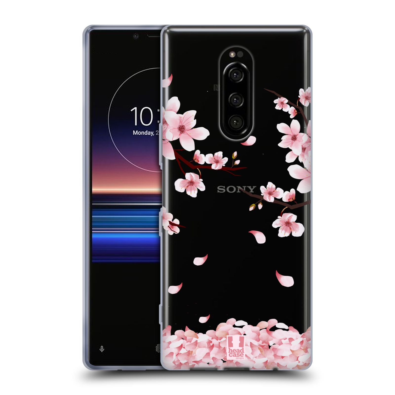 Silikonové pouzdro na mobil Sony Xperia 1 - Head Case - Květy a větvičky