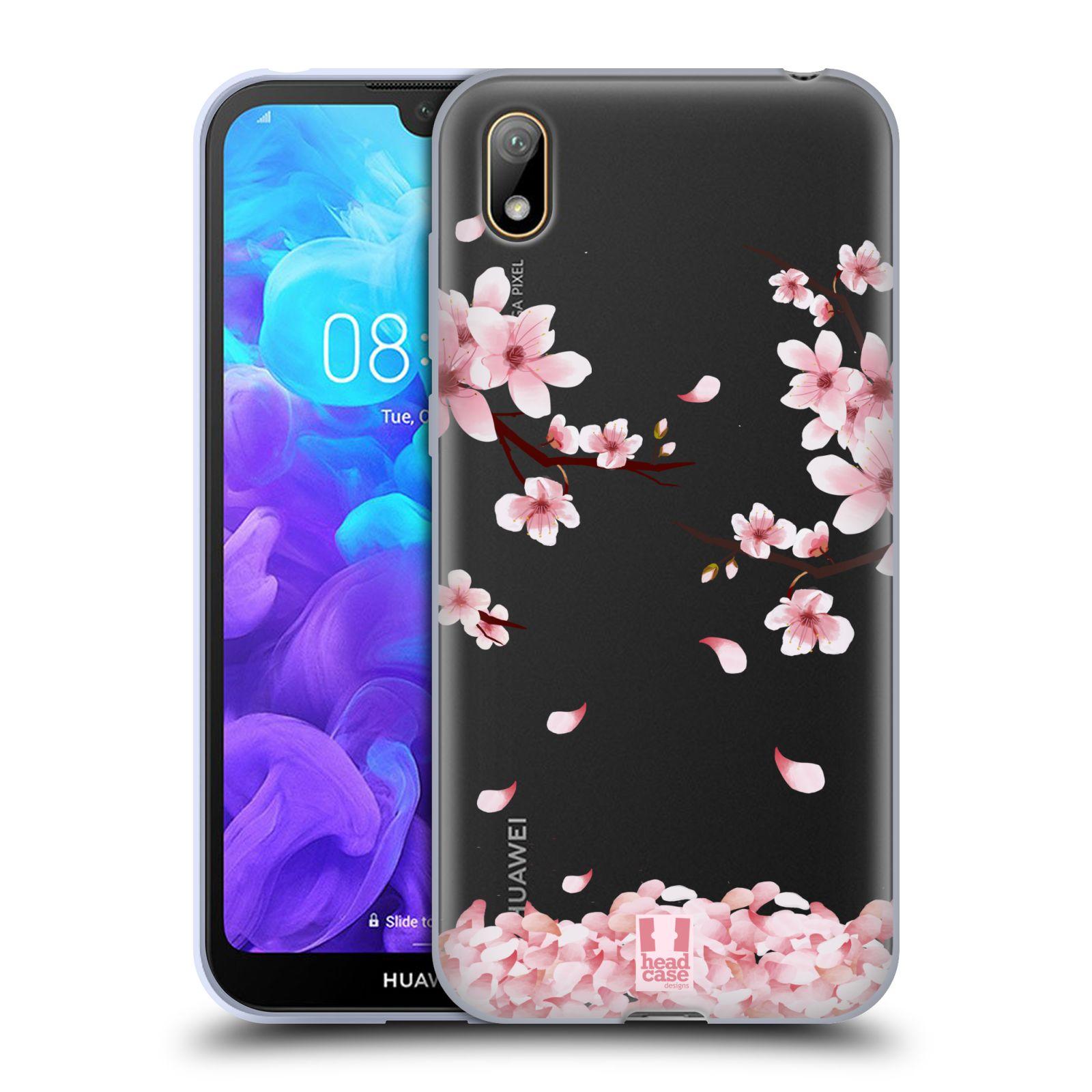 Silikonové pouzdro na mobil Huawei Y5 (2019) - Head Case - Květy a větvičky