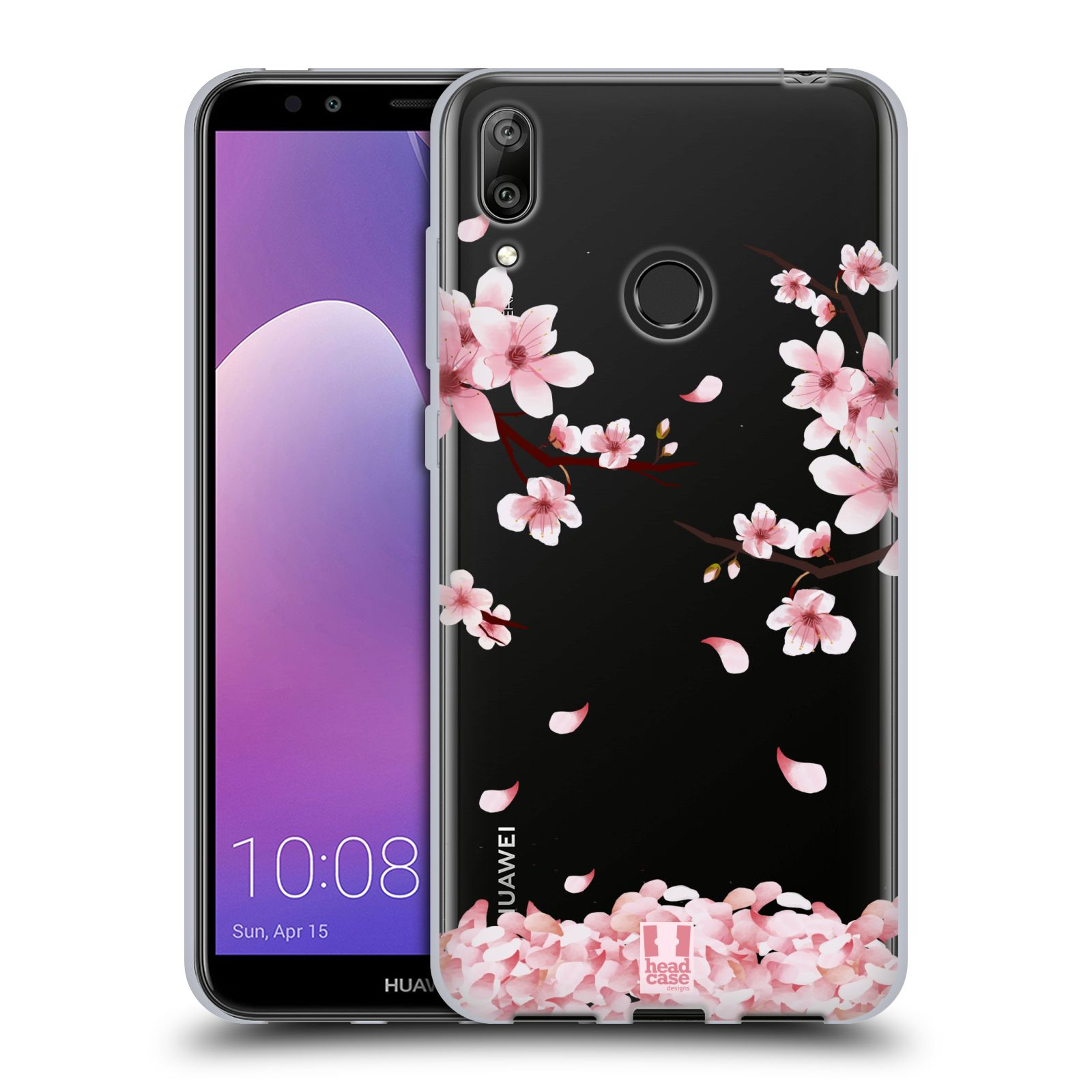 Silikonové pouzdro na mobil Huawei Y7 (2019) - Head Case - Květy a větvičky