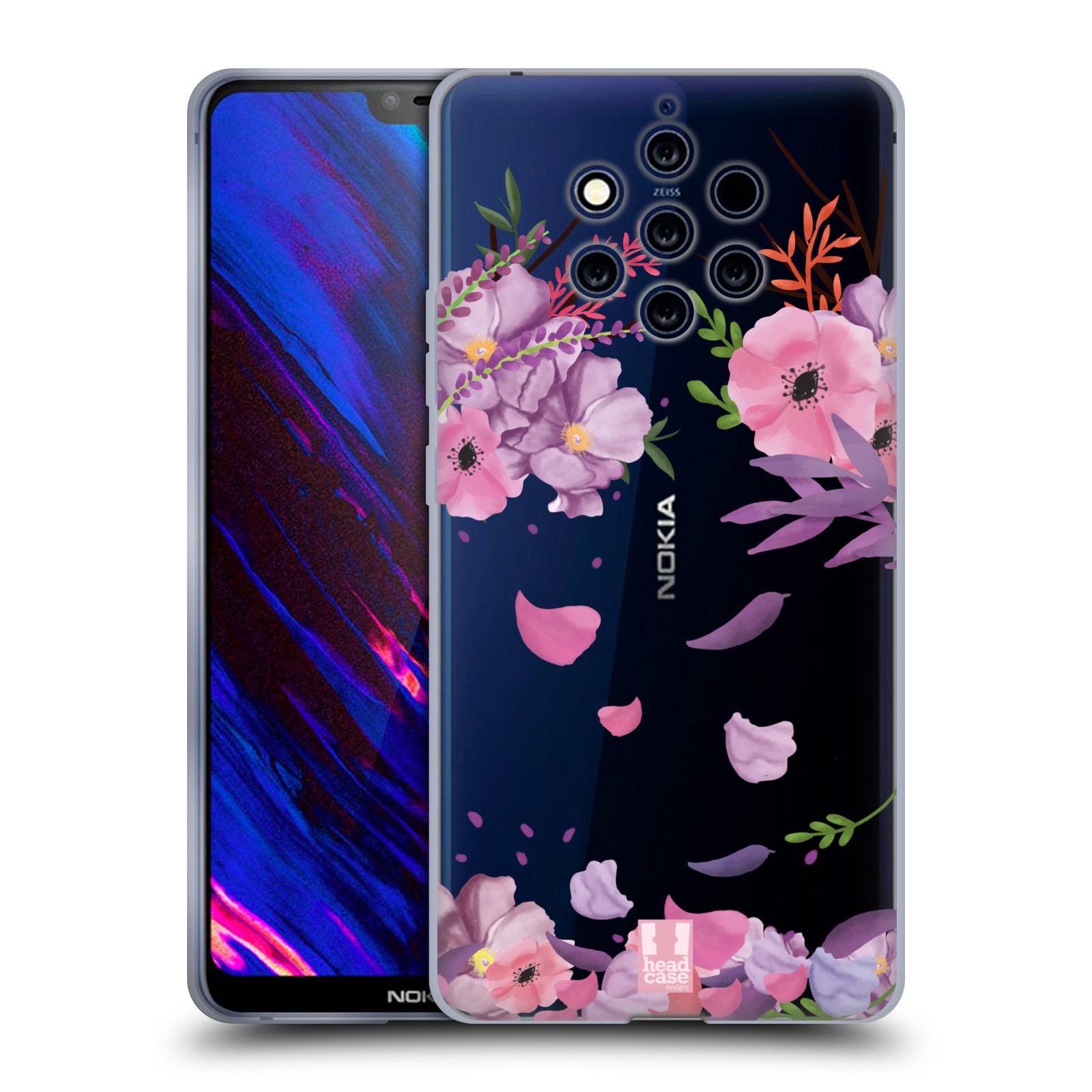 Silikonové pouzdro na mobil Nokia 9 PureView - Head Case - Okvětní lístky